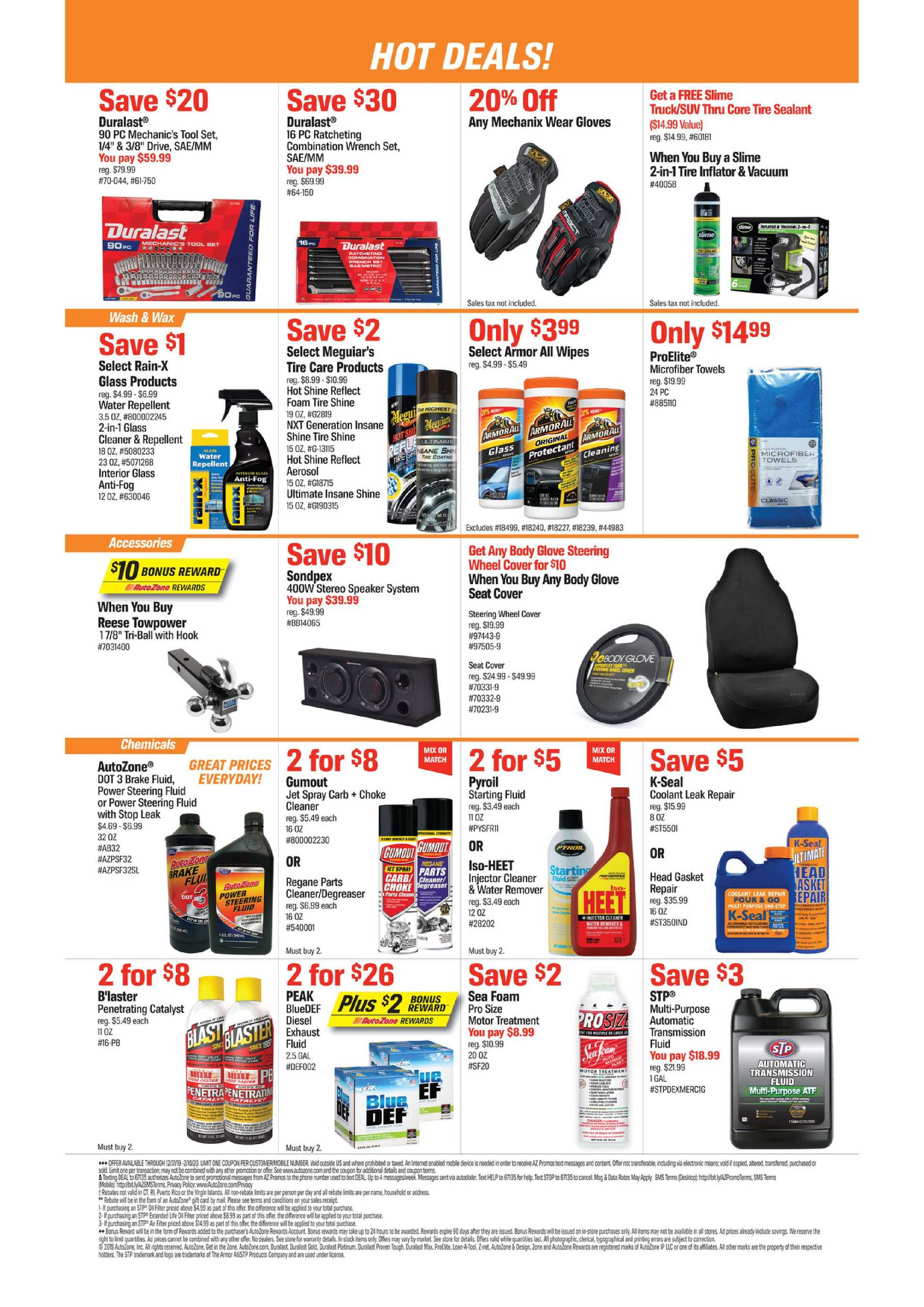 AutoZone - deals are valid from 12/31/19 to 02/10/20 - page 2.