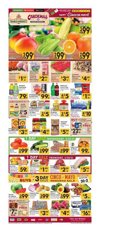 Los Altos Ranch Market - deals are valid from 04/28/21 to 05/04/21 - page 1.