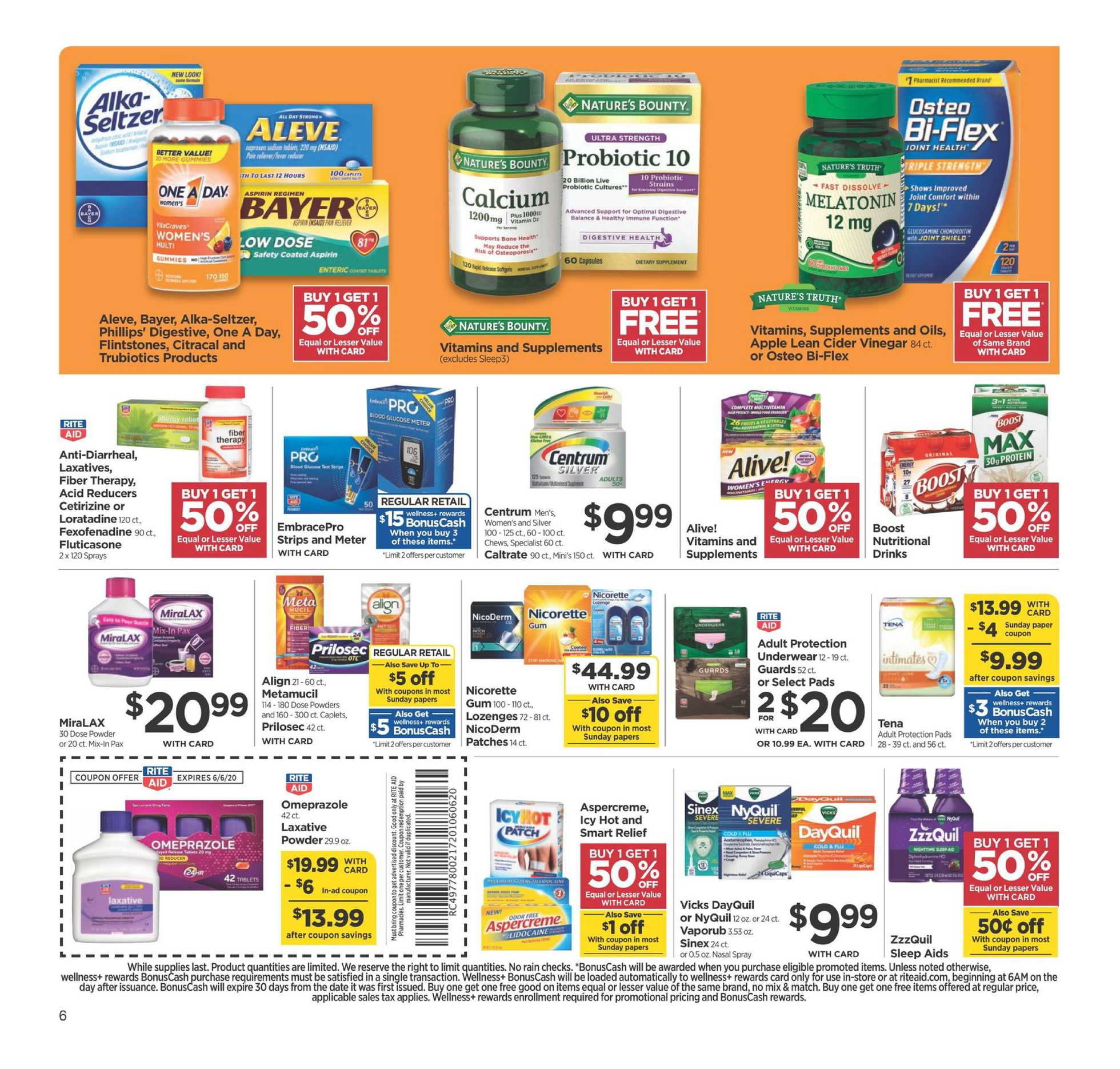 Rite Aid - deals are valid from 05/31/20 to 06/06/20 - page 4.