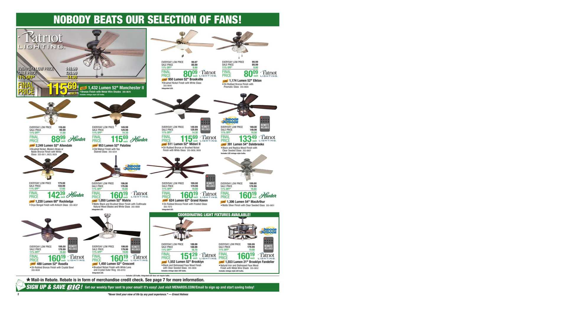 Menards - deals are valid from 09/01/19 to 09/07/19 - page 2.