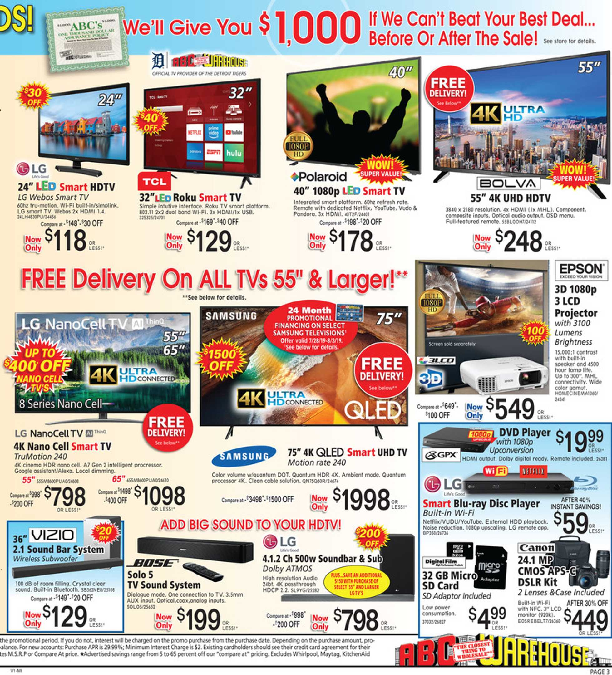 ABC Warehouse - deals are valid from 07/28/19 to 08/03/19 - page 3.