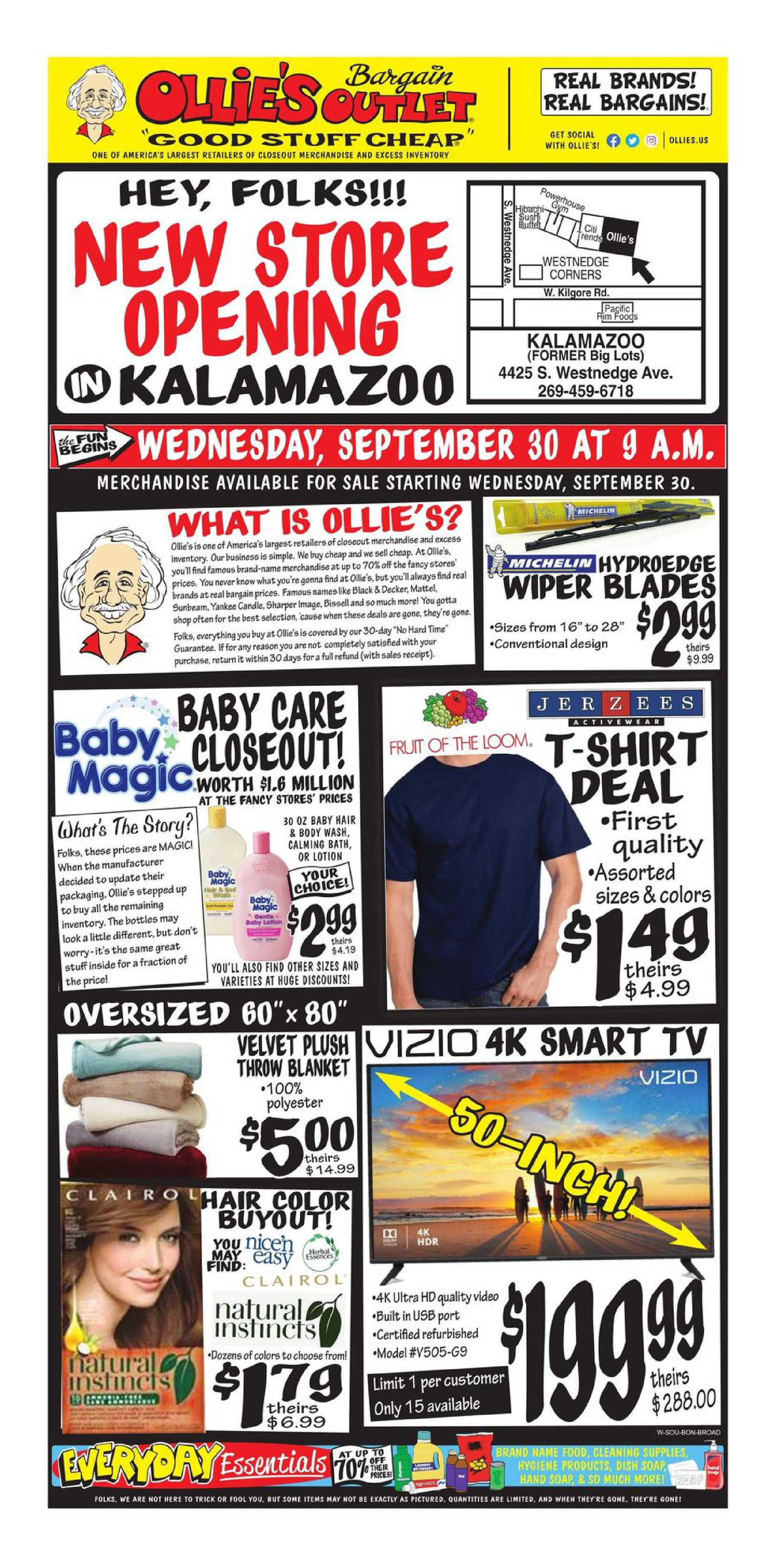 Ollie's Bargain Outlet - deals are valid from 09/30/20 to 10/10/20 - page 1.