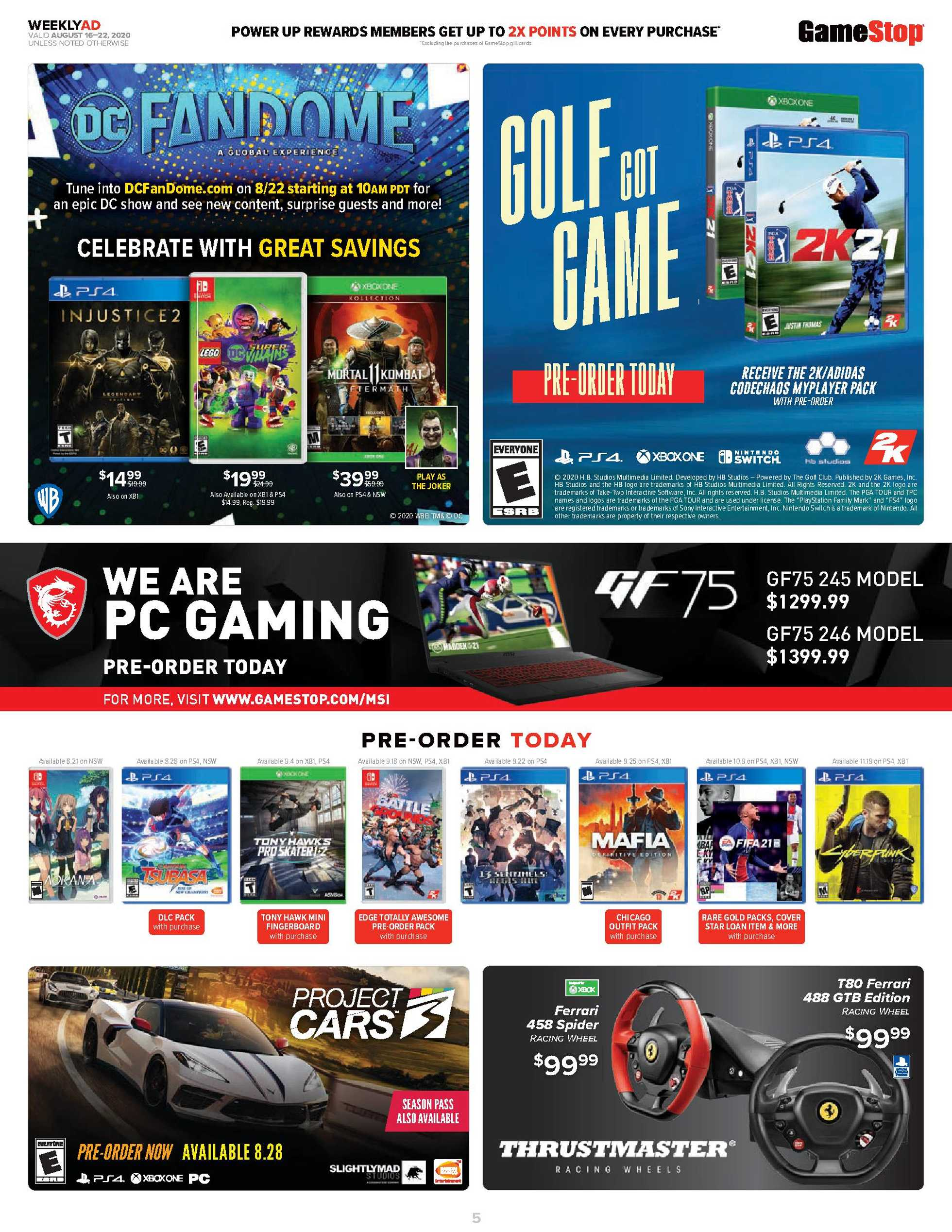 GameStop - deals are valid from 08/16/20 to 08/22/20 - page 4.