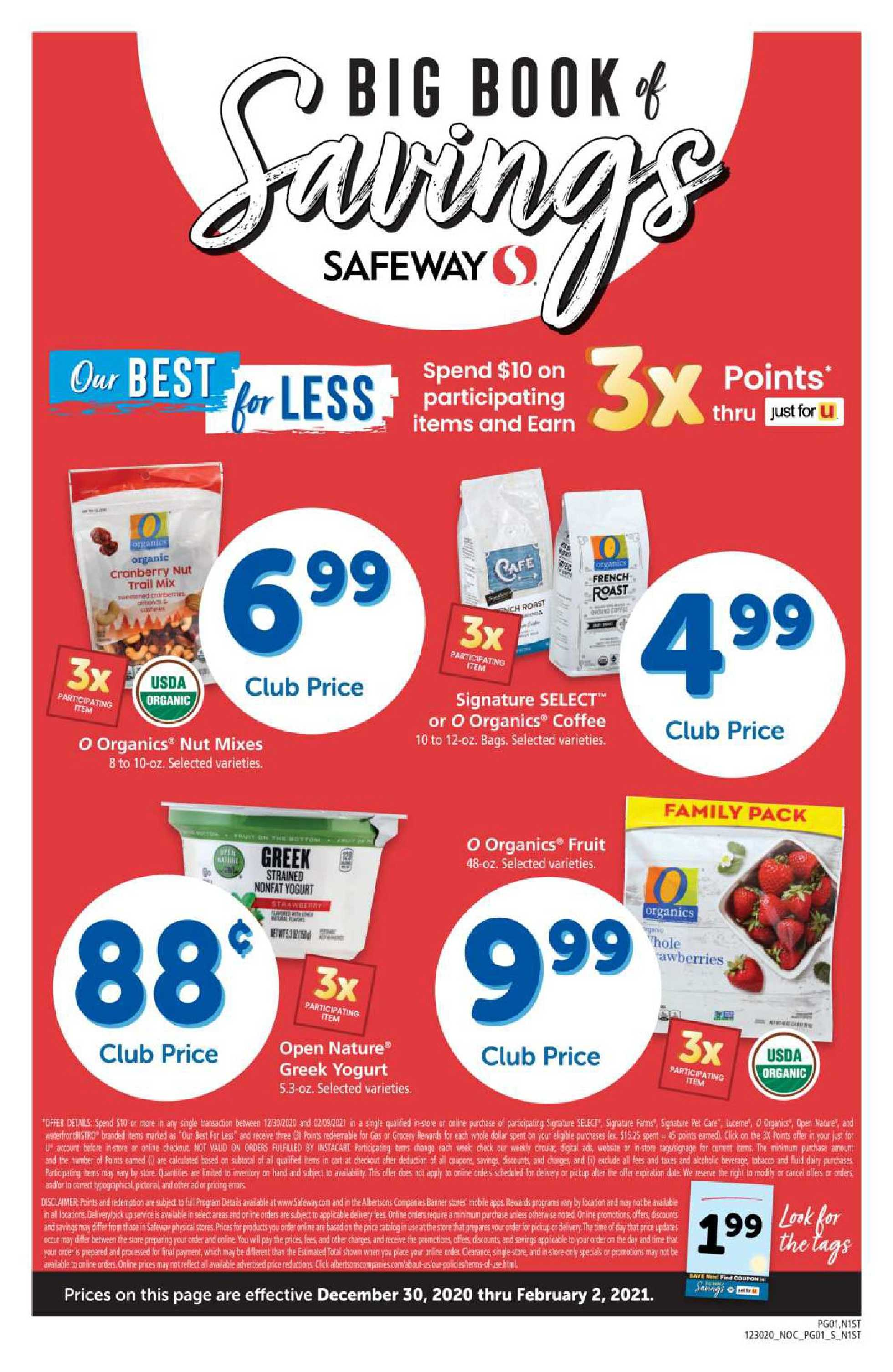 Safeway - deals are valid from 12/30/20 to 02/02/21 - page 1.