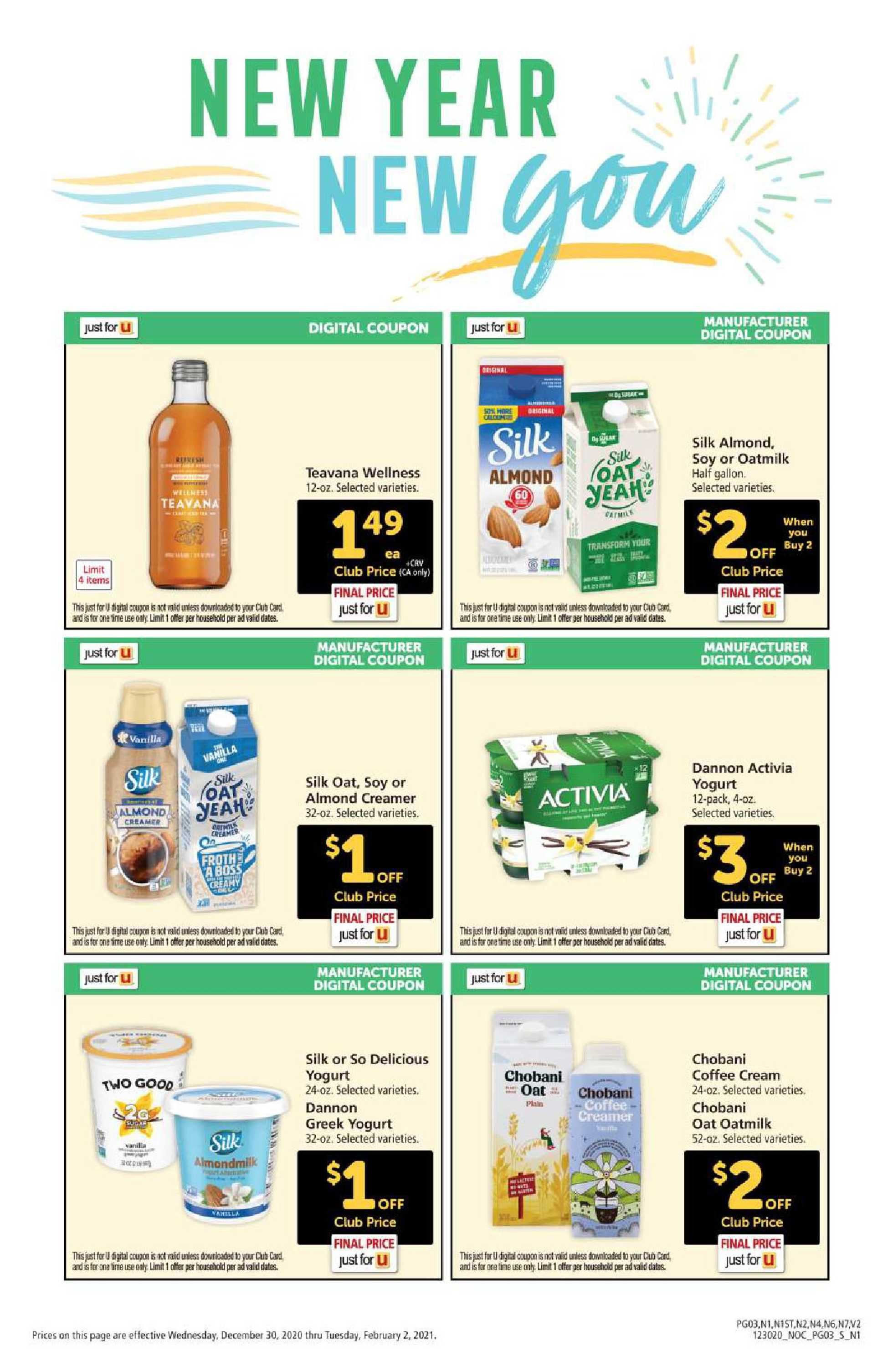 Safeway - deals are valid from 12/30/20 to 02/02/21 - page 3.