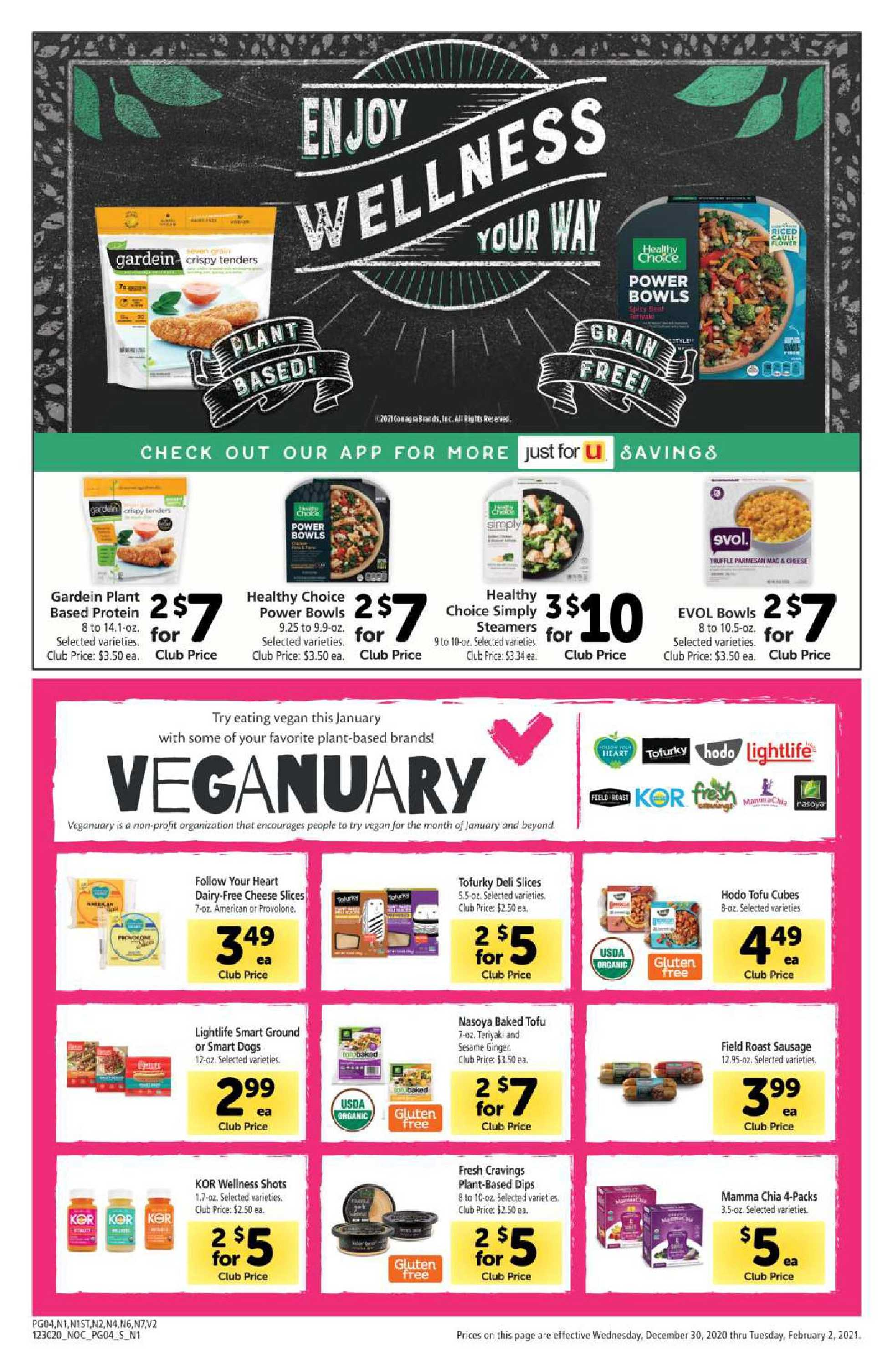 Safeway - deals are valid from 12/30/20 to 02/02/21 - page 4.
