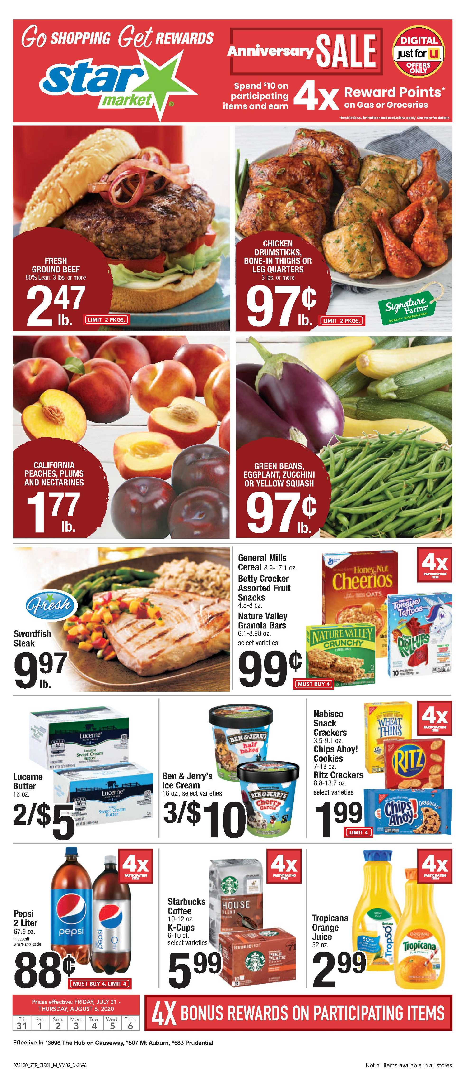 Star Market - deals are valid from 07/31/20 to 08/06/20 - page 1.