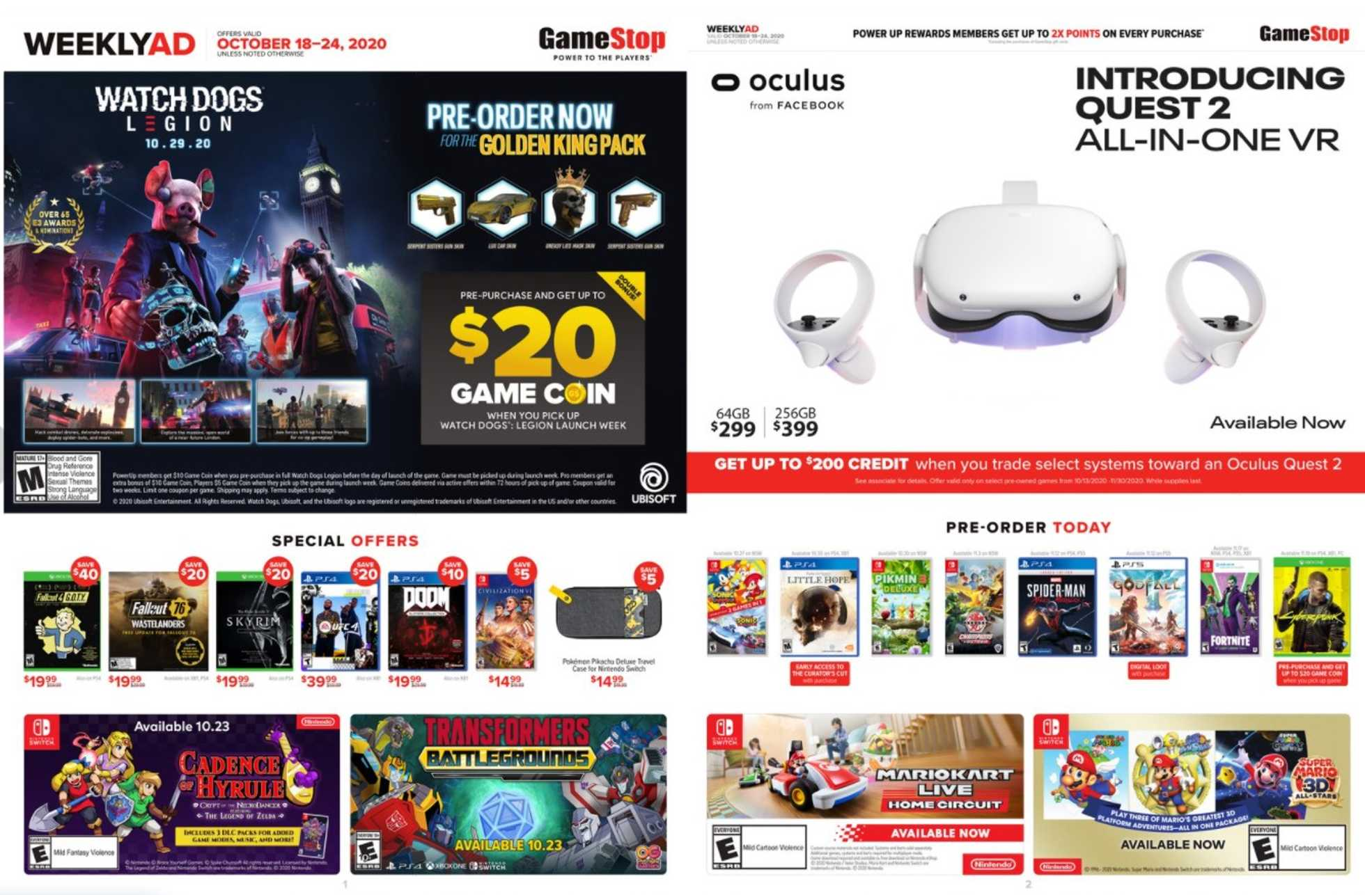 GameStop - deals are valid from 10/18/20 to 10/24/20 - page 1.