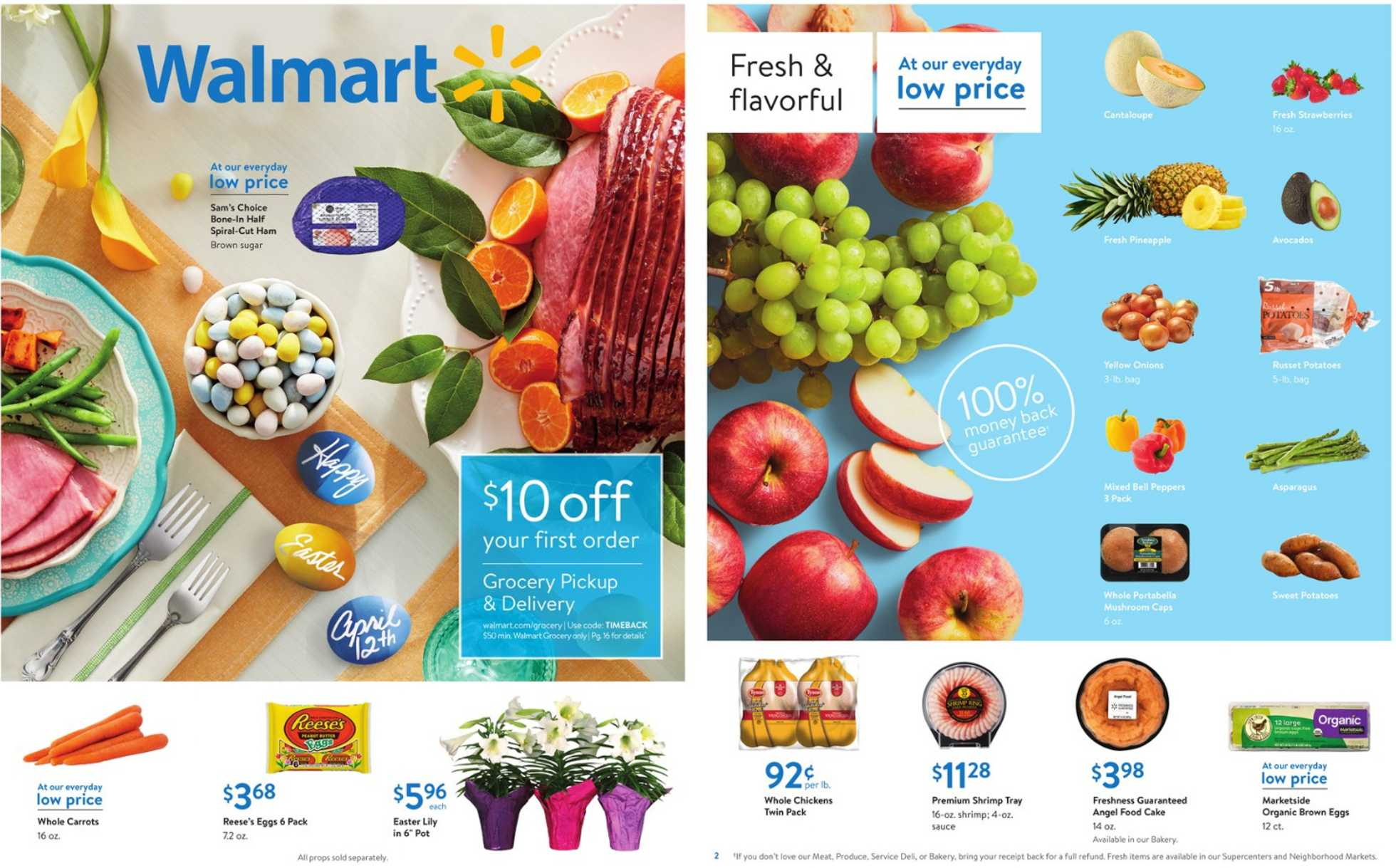 Walmart - deals are valid from 03/27/20 to 04/12/20 - page 1.
