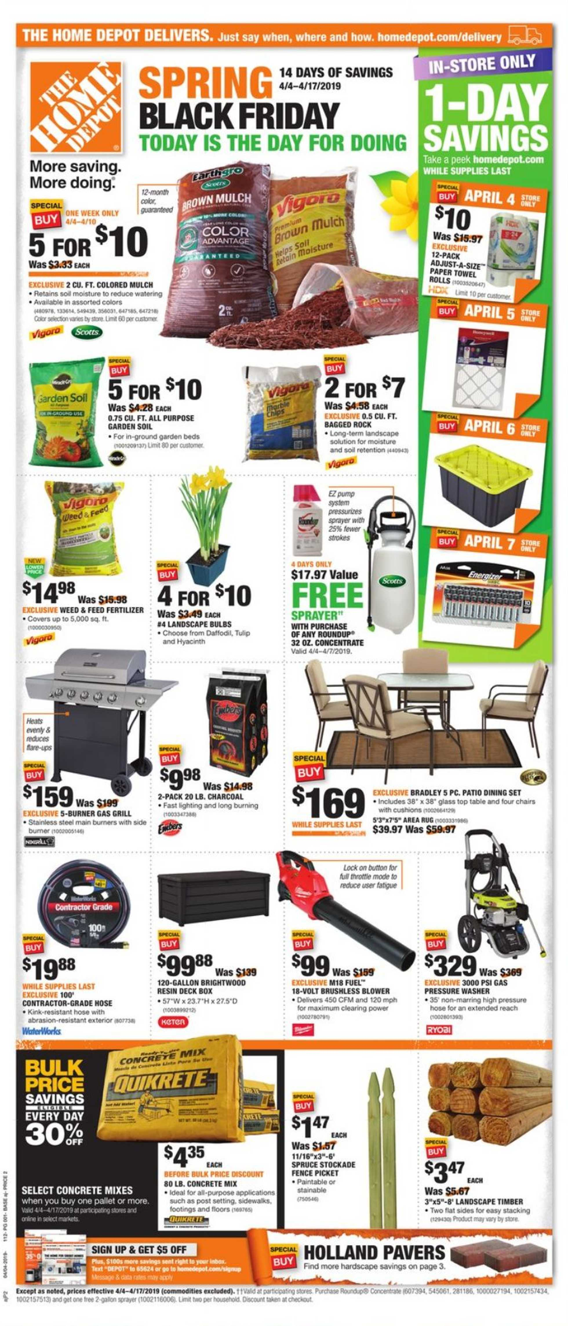 Current Flyer Of The Home Depot Us Promotons Com