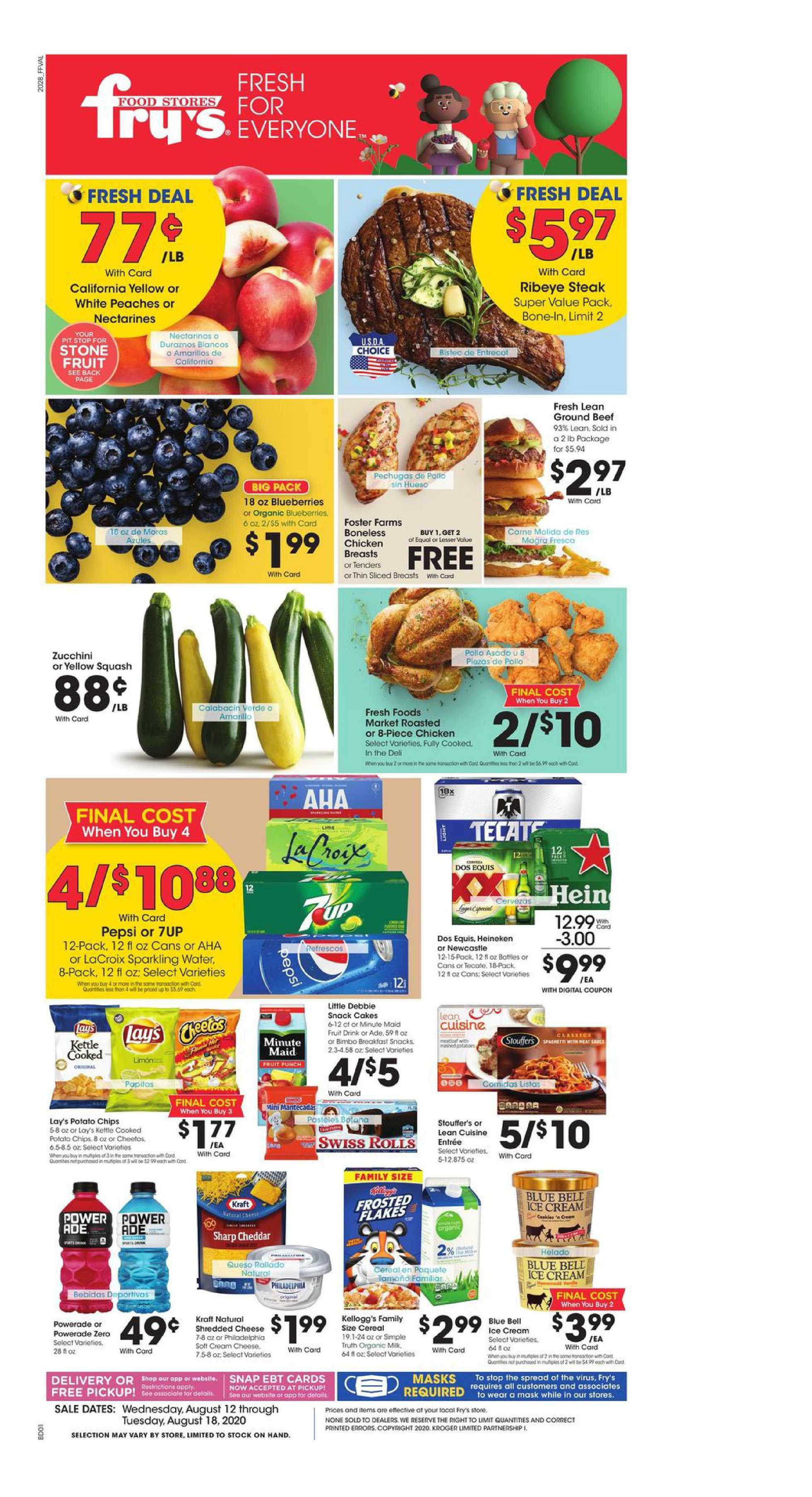 Fry's Food - deals are valid from 08/12/20 to 08/18/20 - page 1.