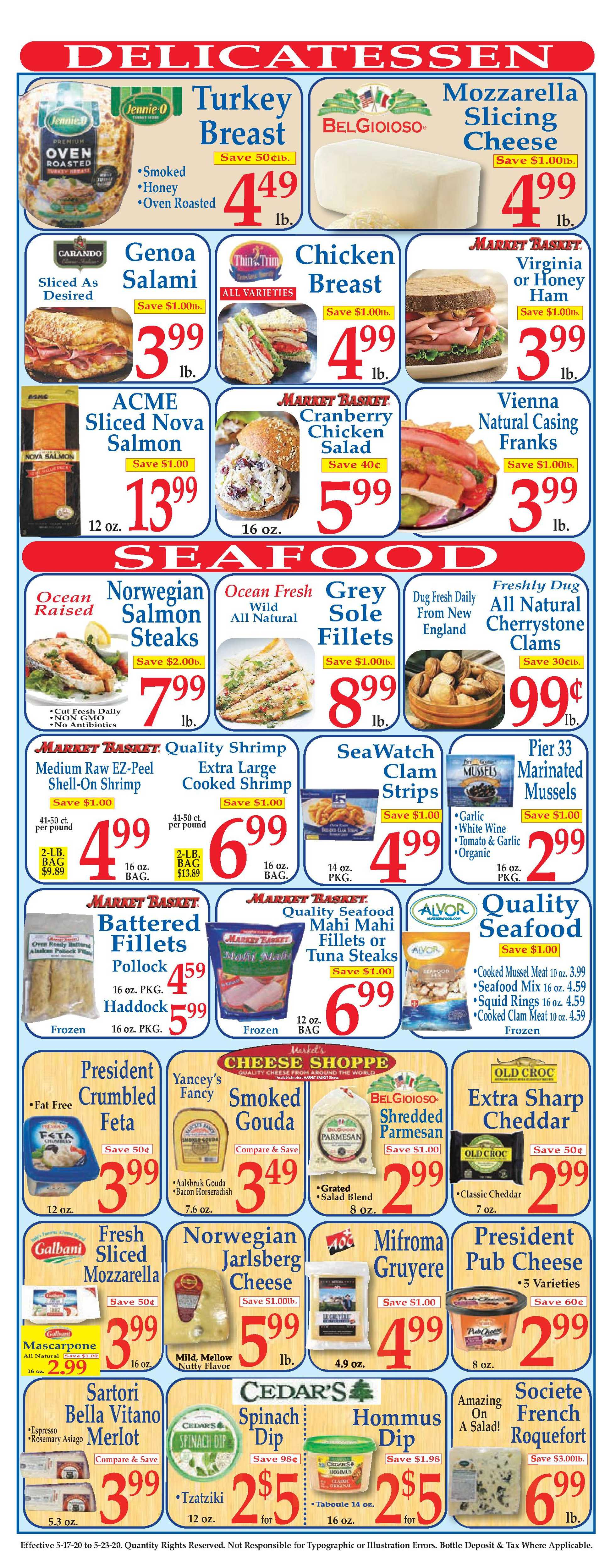 Market Basket - deals are valid from 05/17/20 to 05/23/20 - page 3.