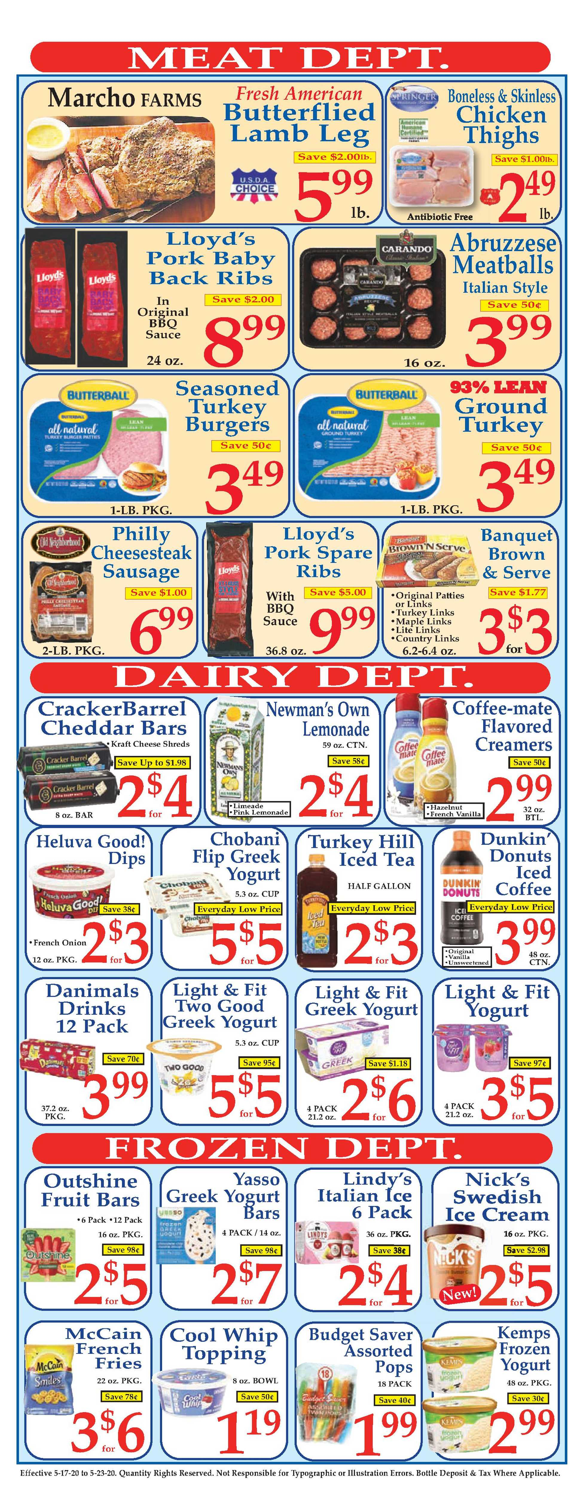 Market Basket - deals are valid from 05/17/20 to 05/23/20 - page 4.