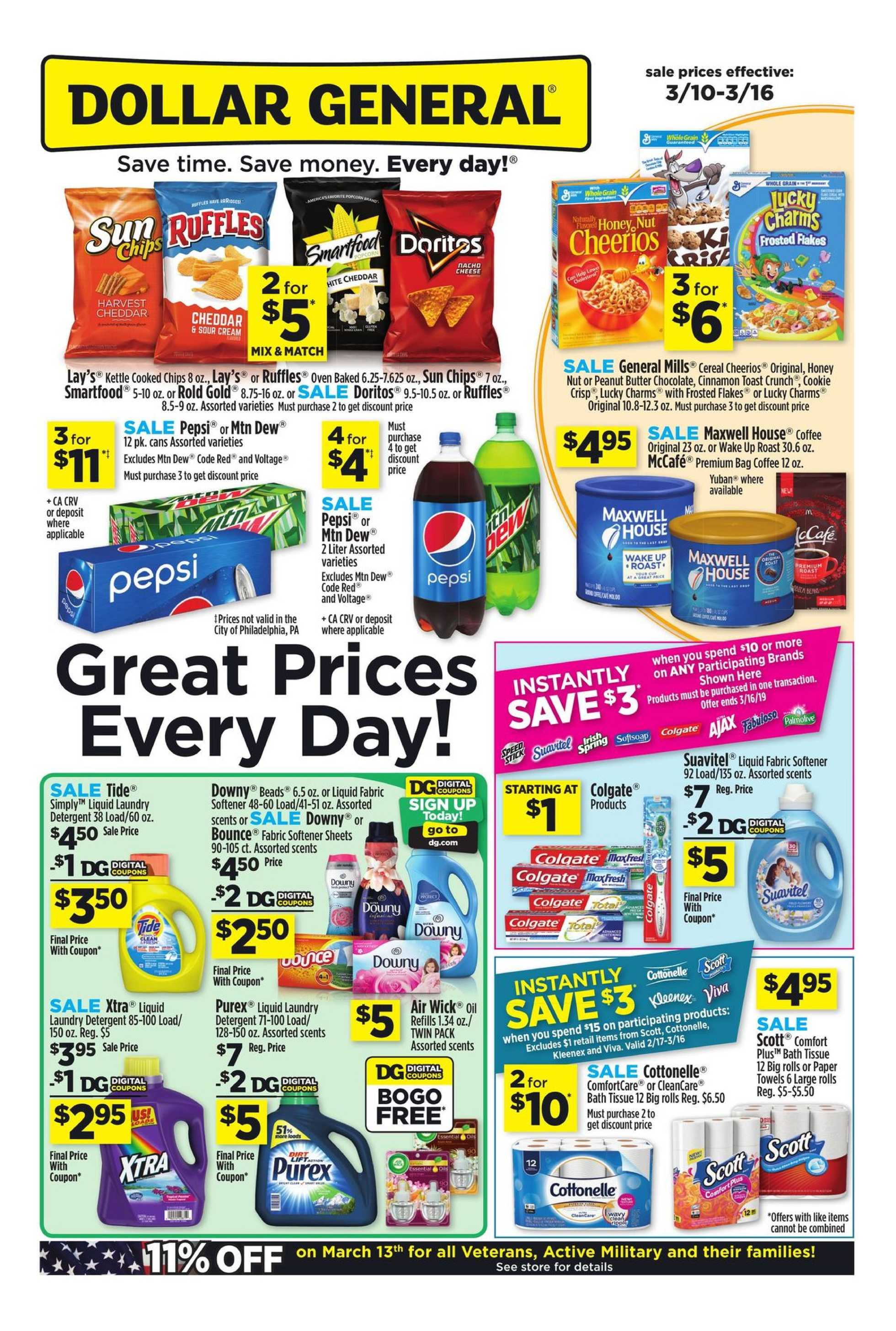 Dollar General - deals are valid from 03/10/19 to 03/16/19 - page 1.