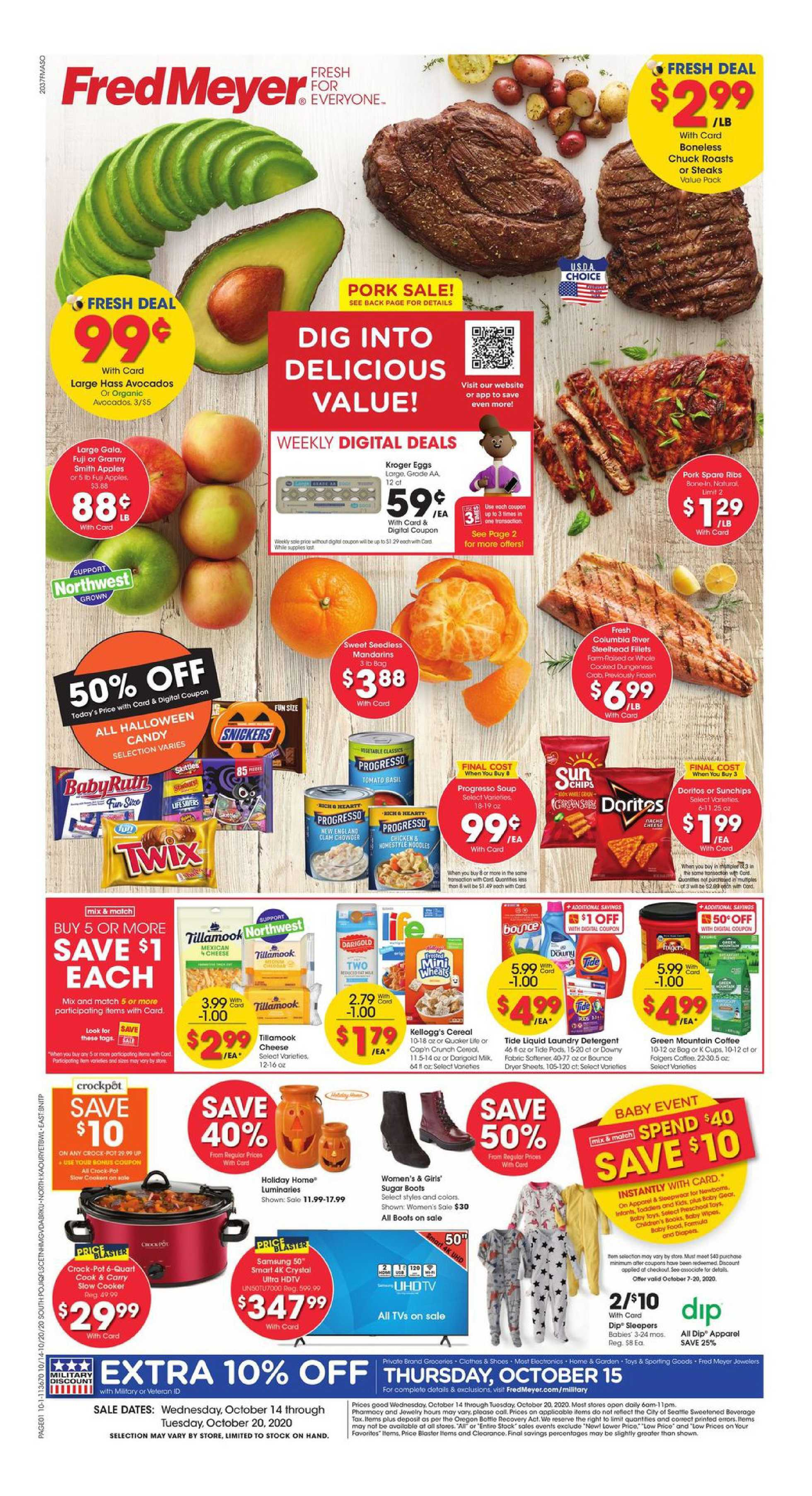 Fred Meyer - deals are valid from 10/14/20 to 10/20/20 - page 1.