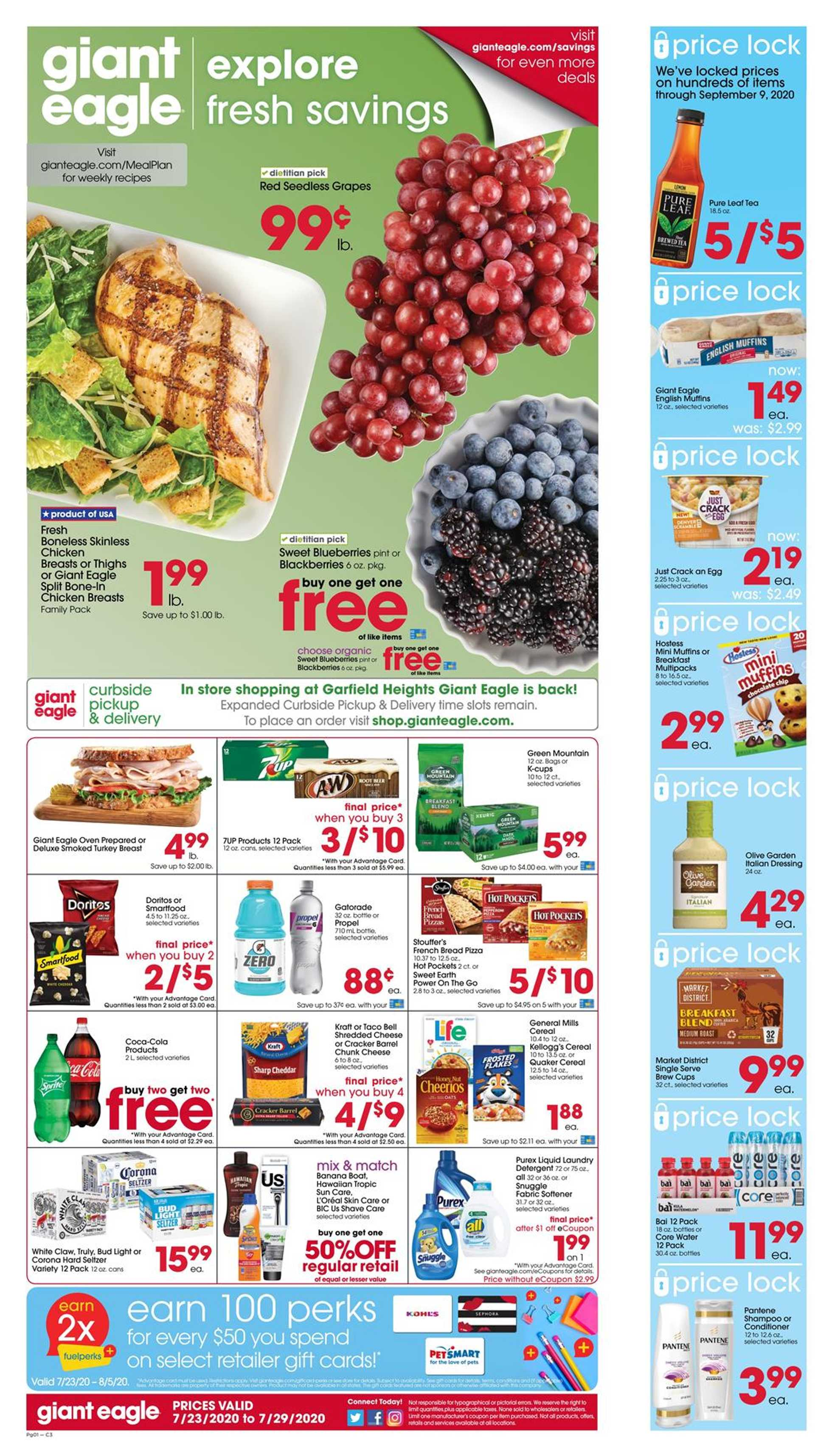 Giant Eagle - deals are valid from 07/23/20 to 07/29/20 - page 1.