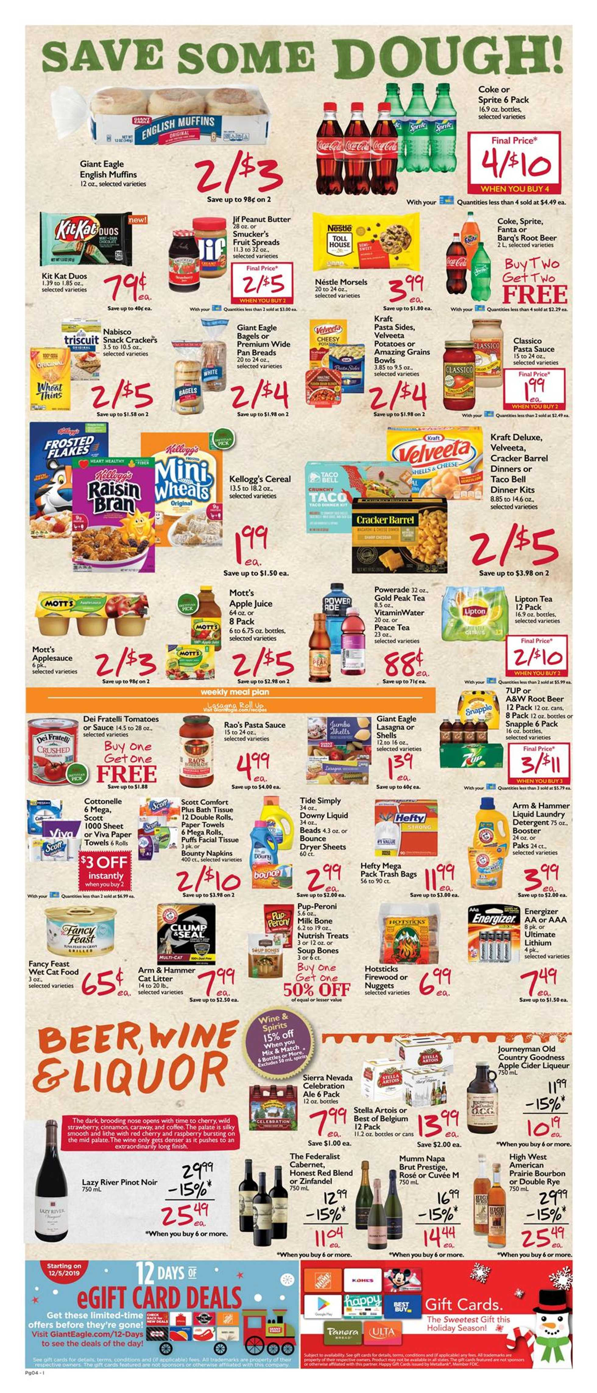 Market District - deals are valid from 12/05/19 to 12/11/19 - page 4.