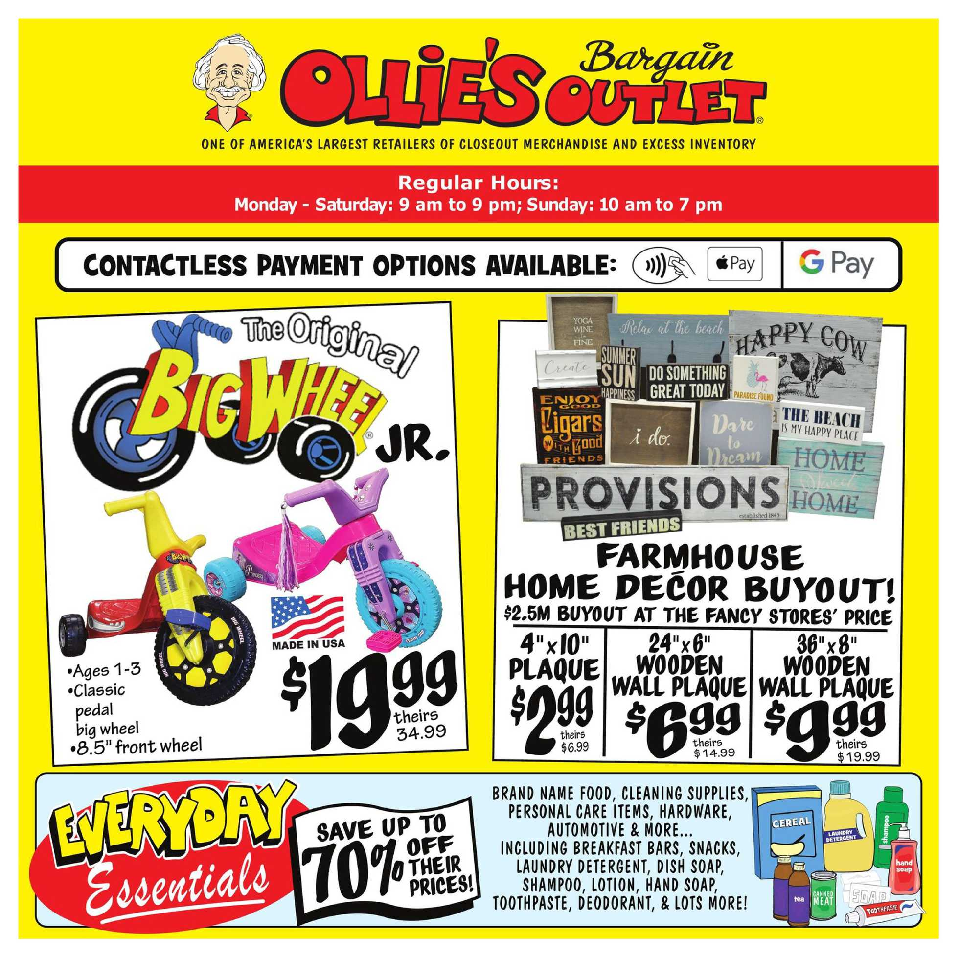 Ollie's Bargain Outlet - deals are valid from 07/23/20 to 07/29/20 - page 1.