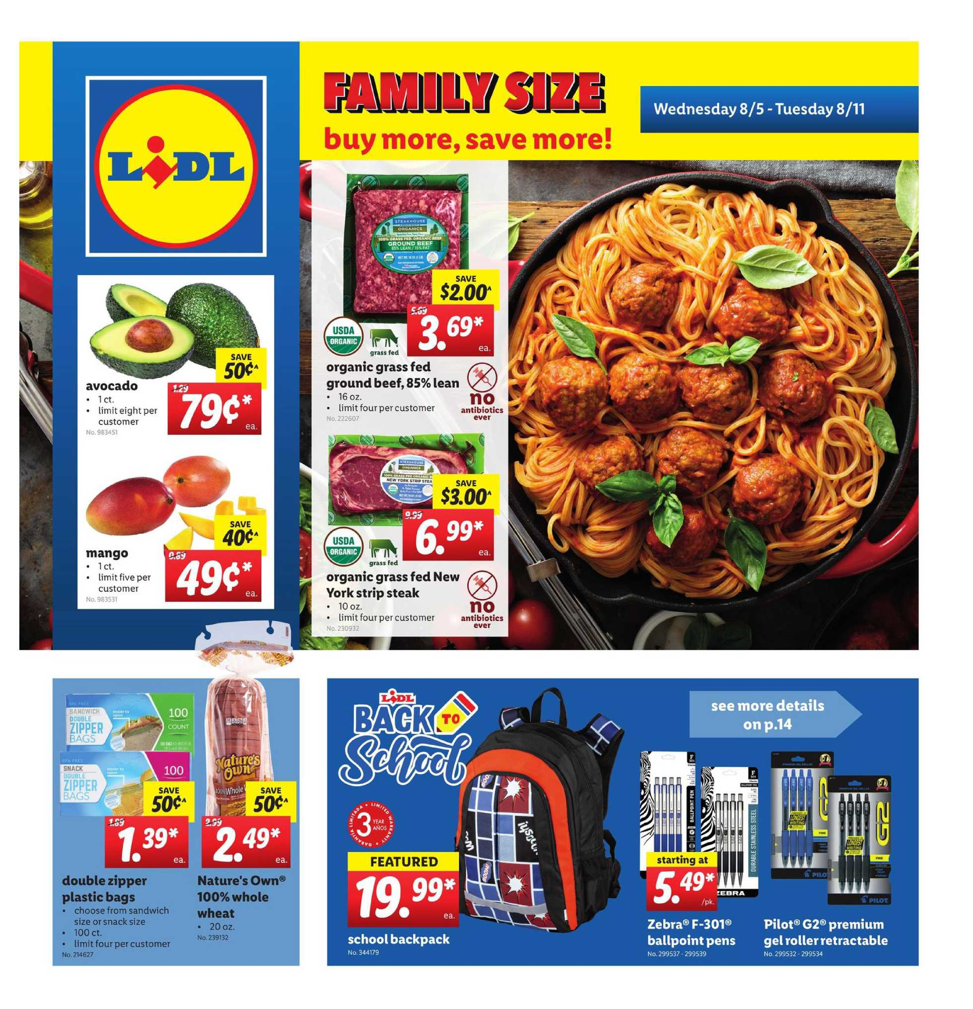 Lidl - deals are valid from 08/05/20 to 08/11/20 - page 1.