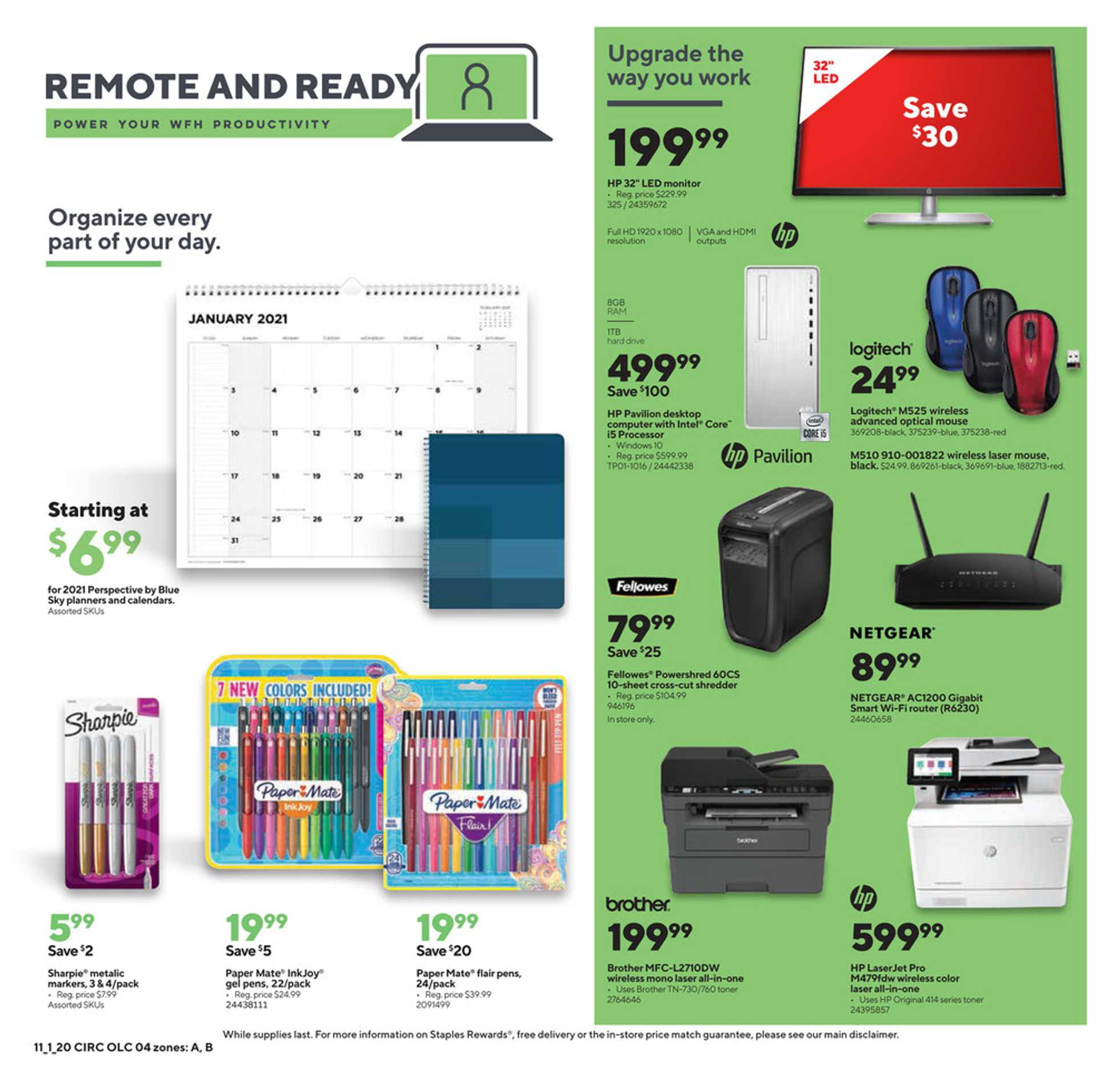 Staples - deals are valid from 11/01/20 to 11/07/20 - page 4.