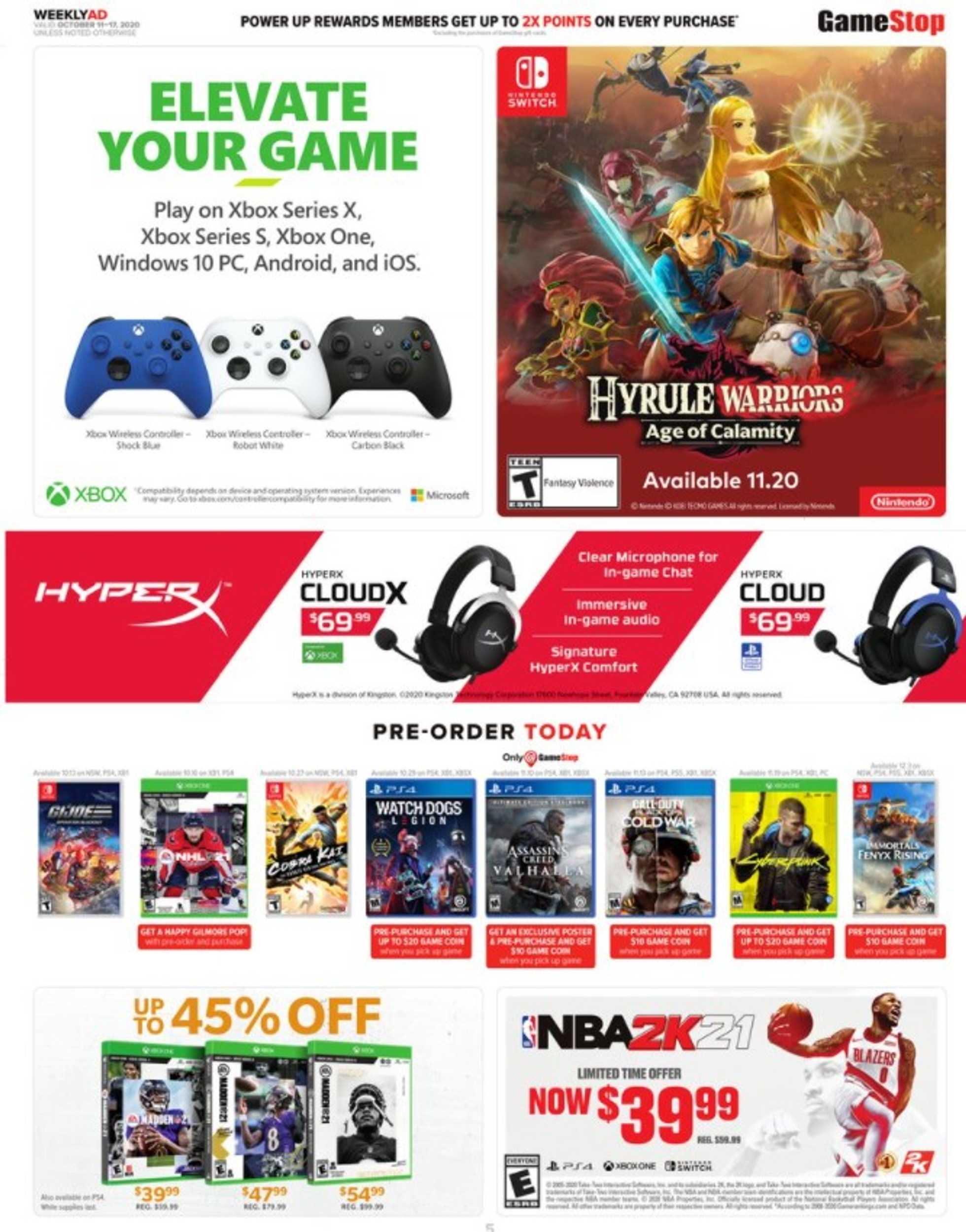 GameStop - deals are valid from 10/11/20 to 10/17/20 - page 4.