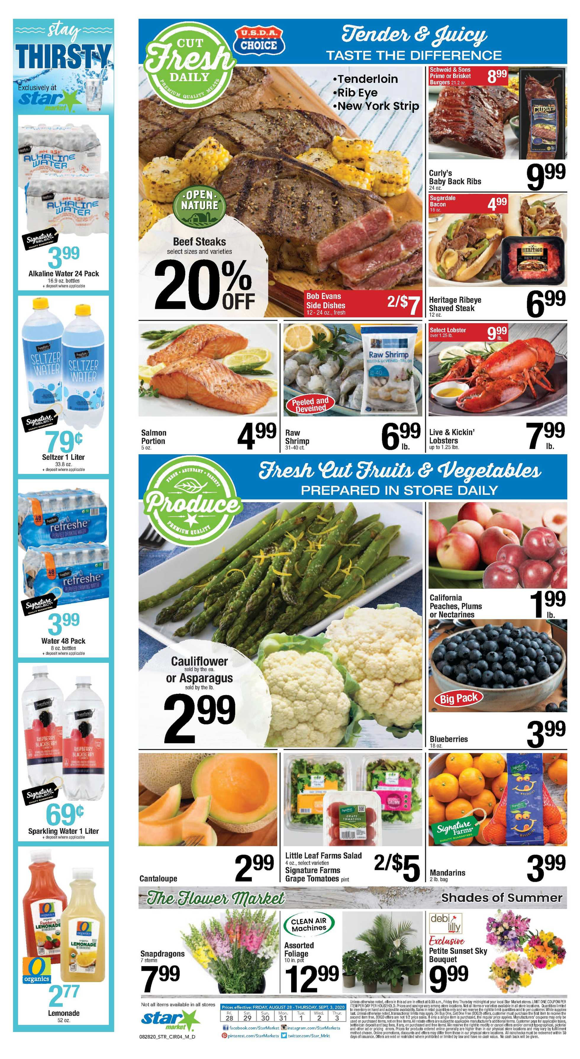 Star Market - deals are valid from 08/28/20 to 09/03/20 - page 3.