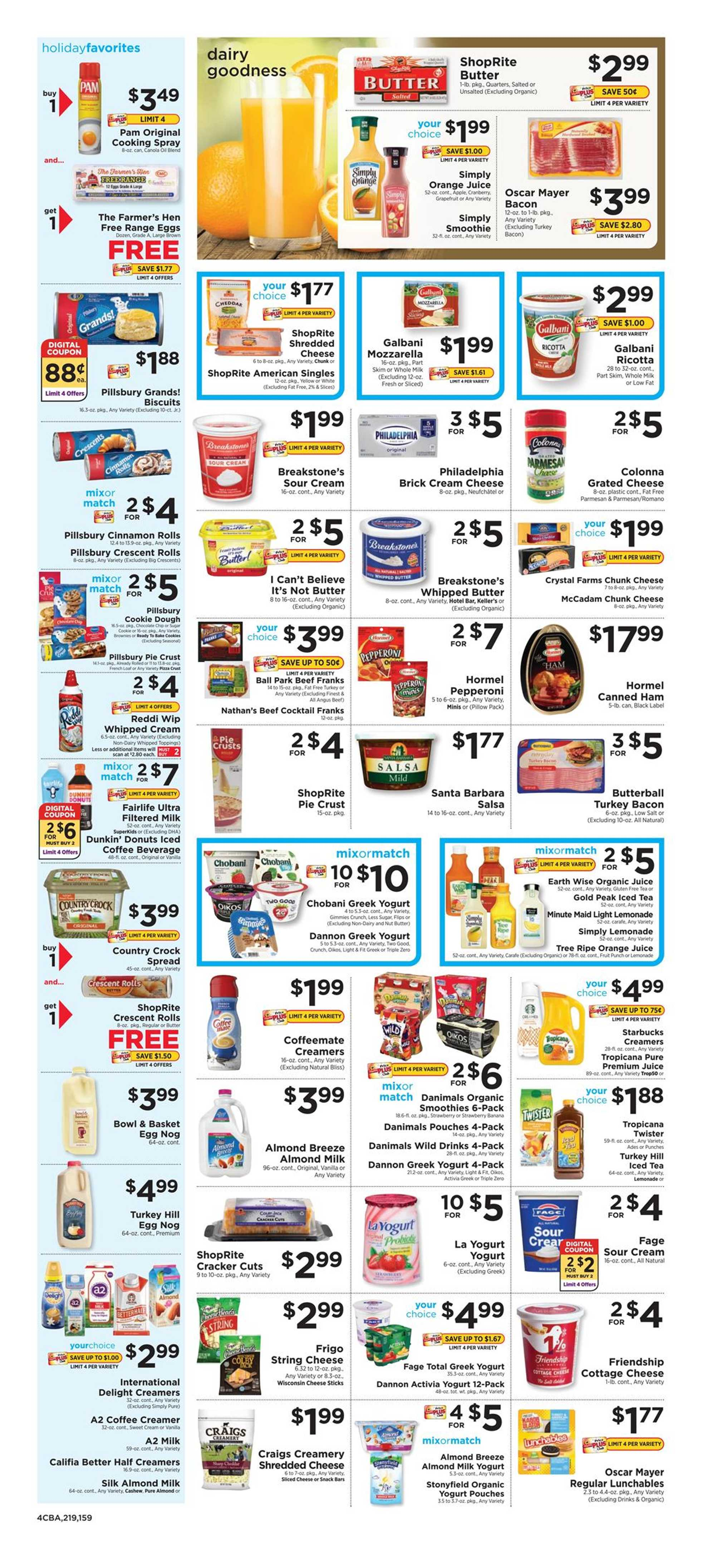 ShopRite - deals are valid from 12/15/19 to 12/21/19 - page 4.