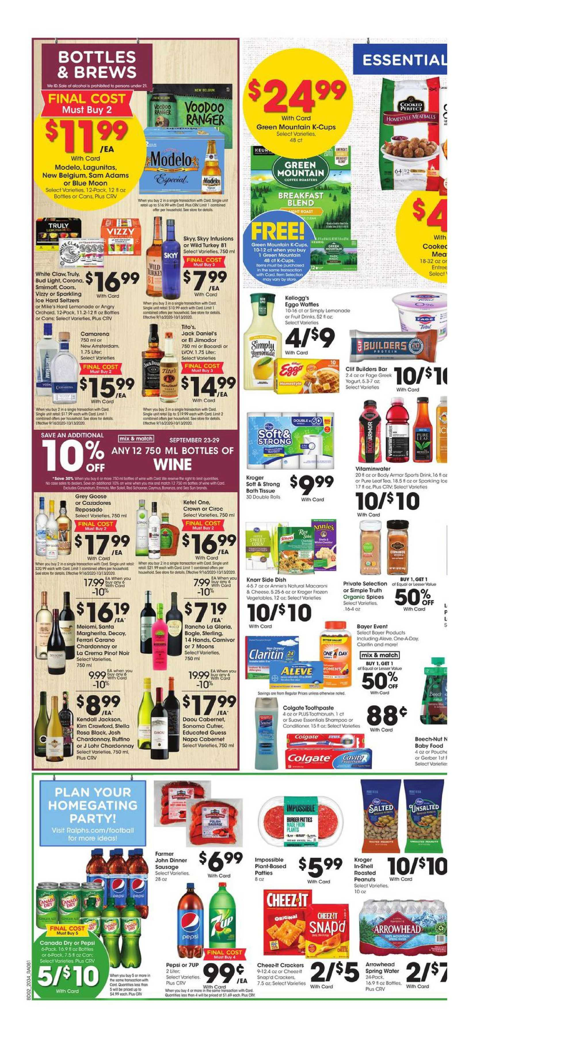 Ralphs - deals are valid from 09/23/20 to 09/29/20 - page 4.