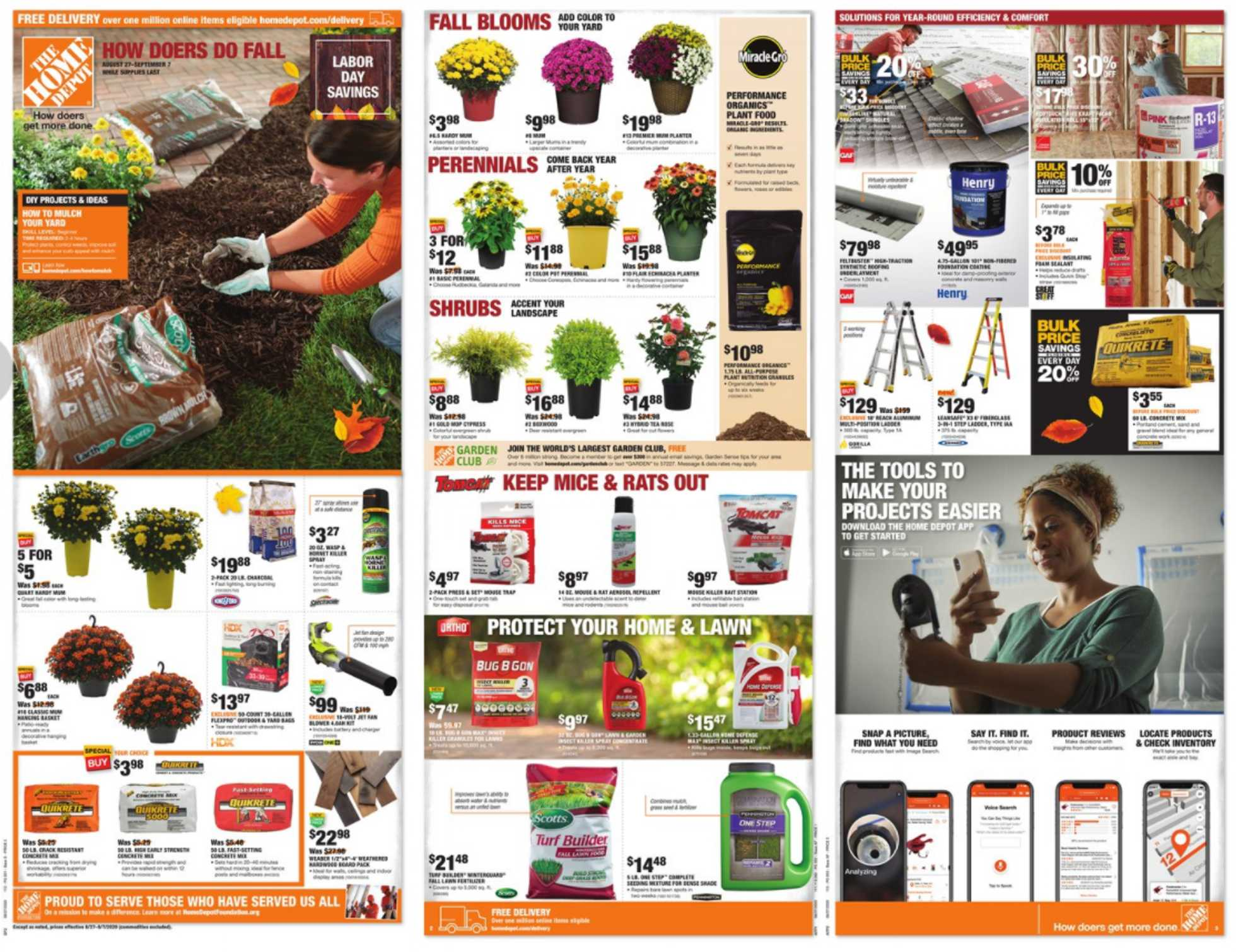 The Home Depot - deals are valid from 08/27/20 to 09/07/20 - page 1.