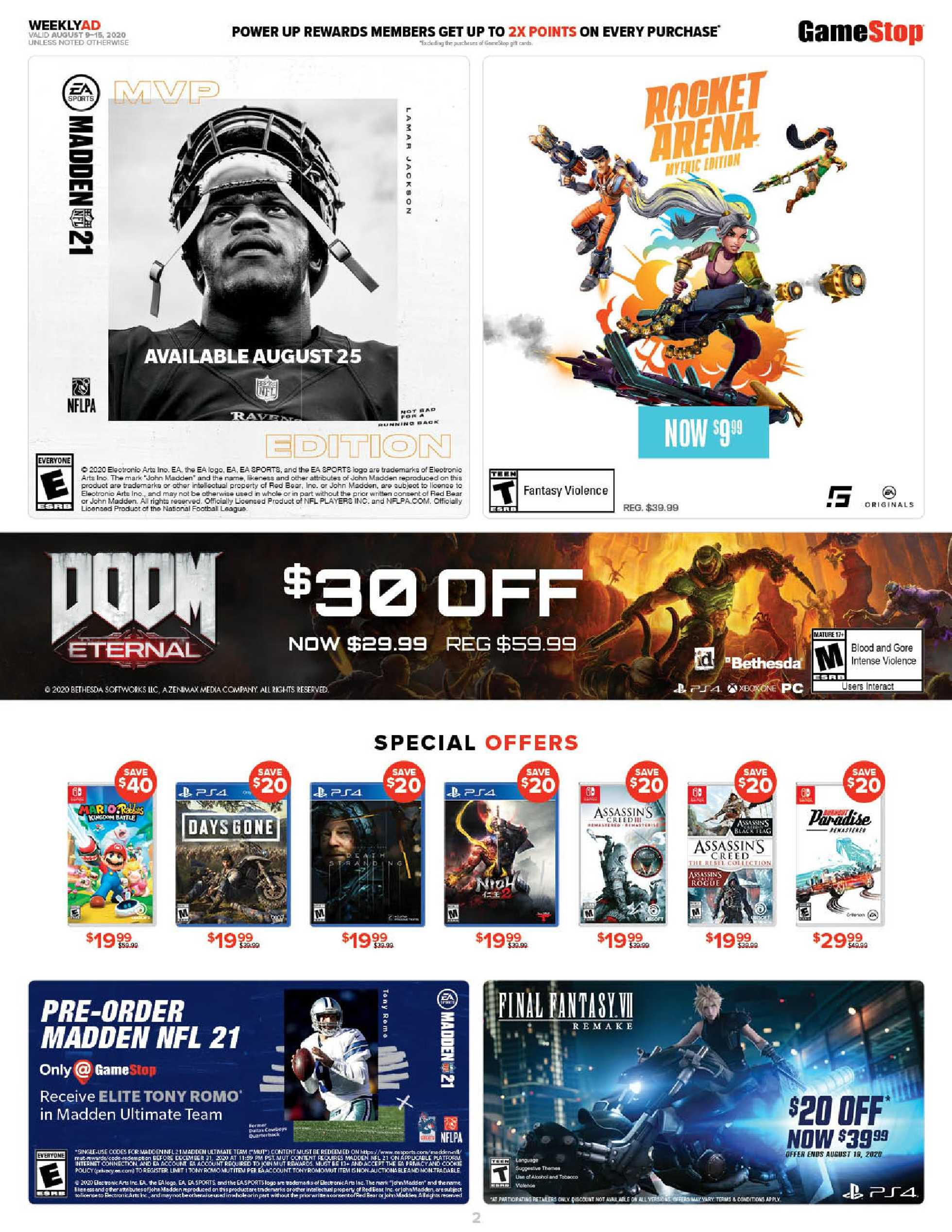 GameStop - deals are valid from 08/09/20 to 08/15/20 - page 2.
