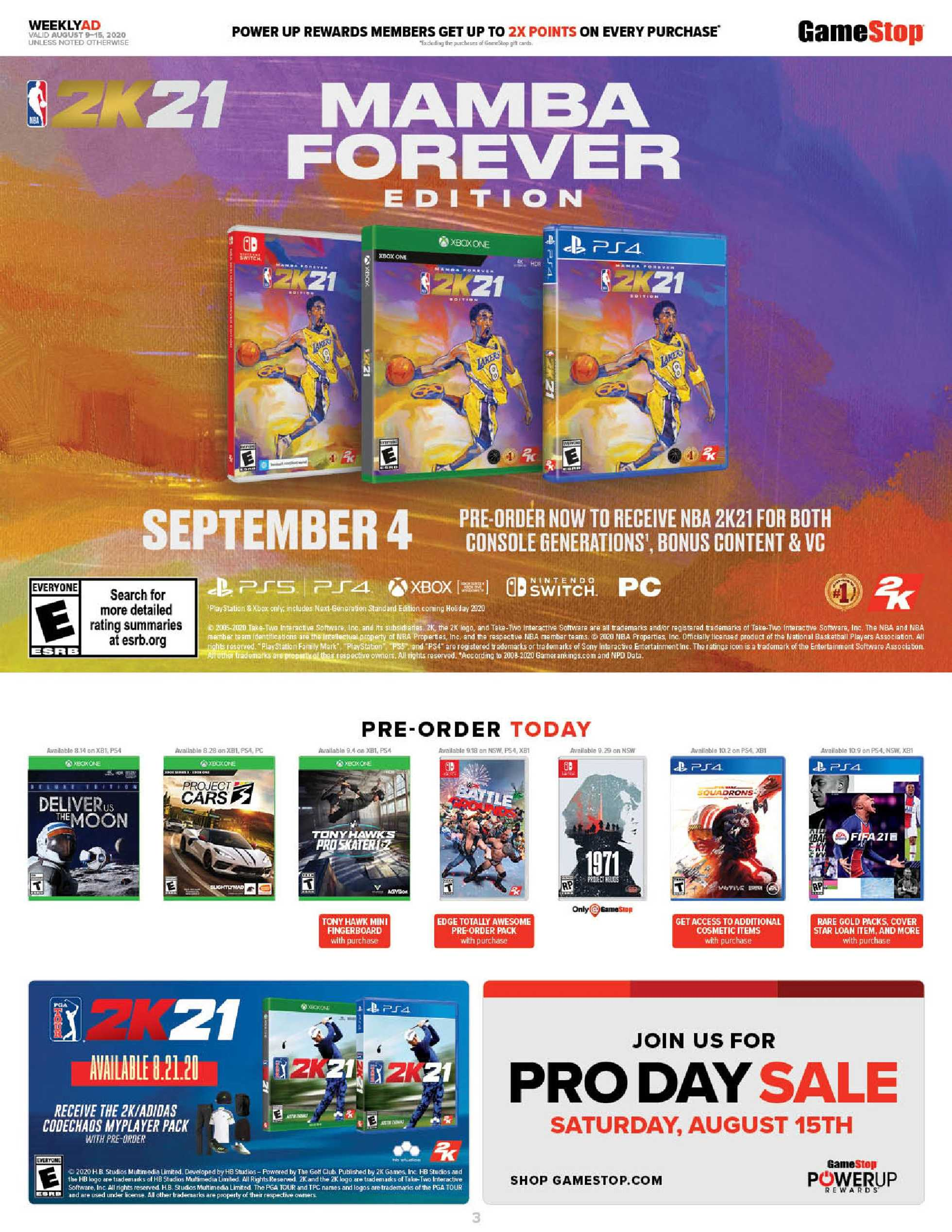 GameStop - deals are valid from 08/09/20 to 08/15/20 - page 3.