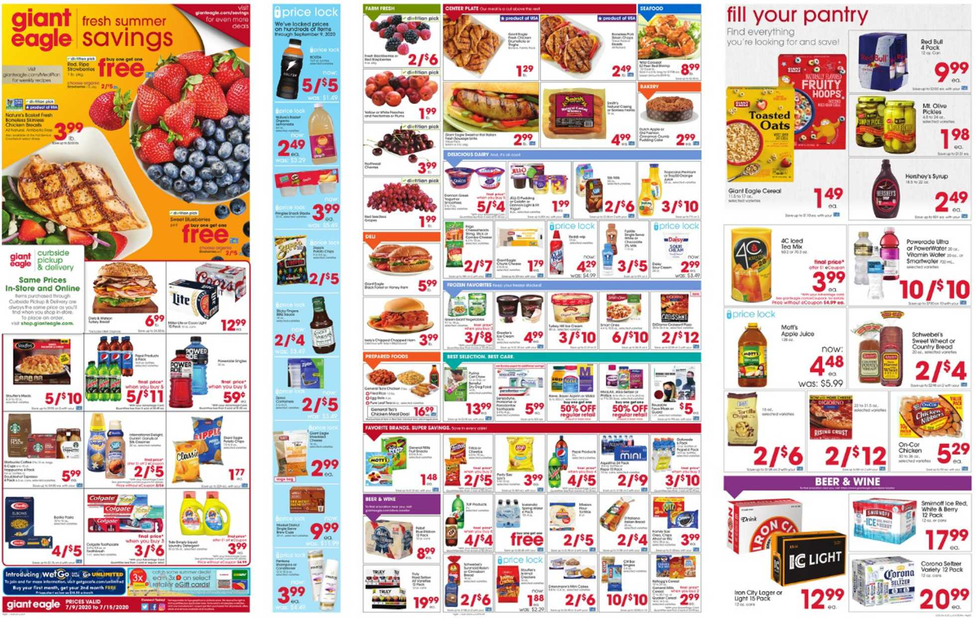 Giant Eagle - deals are valid from 07/09/20 to 07/15/20 - page 1.