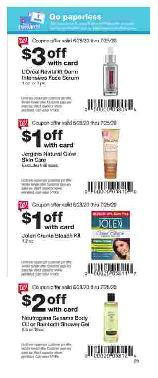 Walgreens - deals are valid from 06/28/20 to 07/25/20 - page 22.