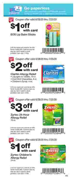 Walgreens - deals are valid from 06/28/20 to 07/25/20 - page 40.
