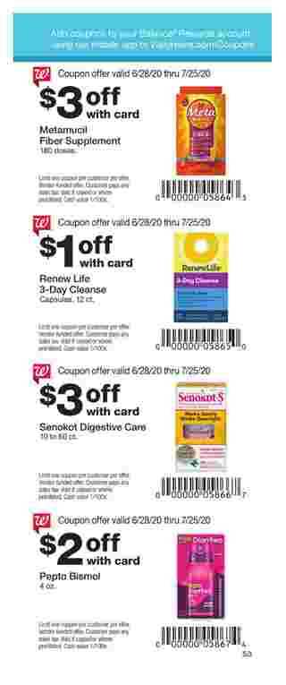 Walgreens - deals are valid from 06/28/20 to 07/25/20 - page 49.