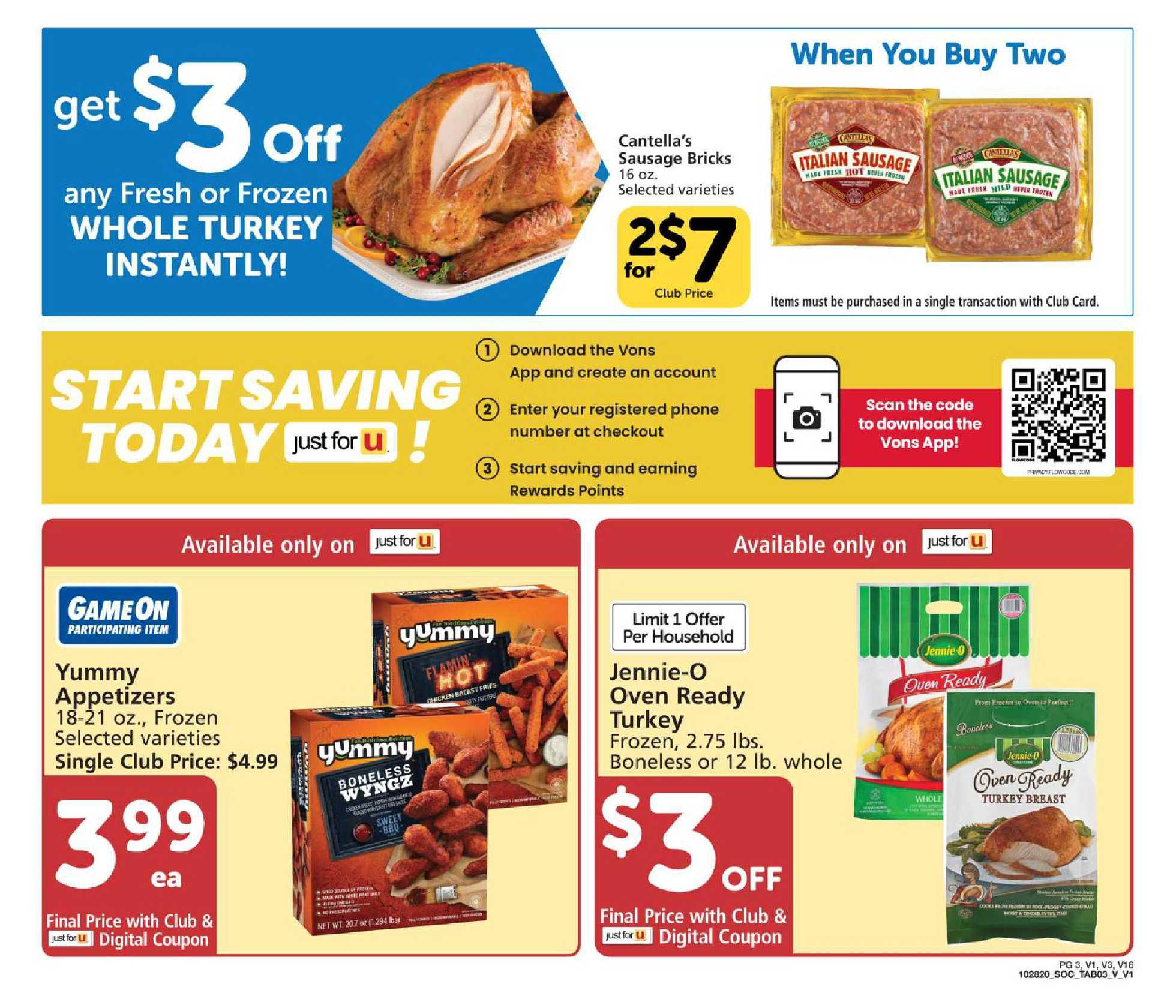 Vons - deals are valid from 11/28/20 to 12/26/20 - page 3.