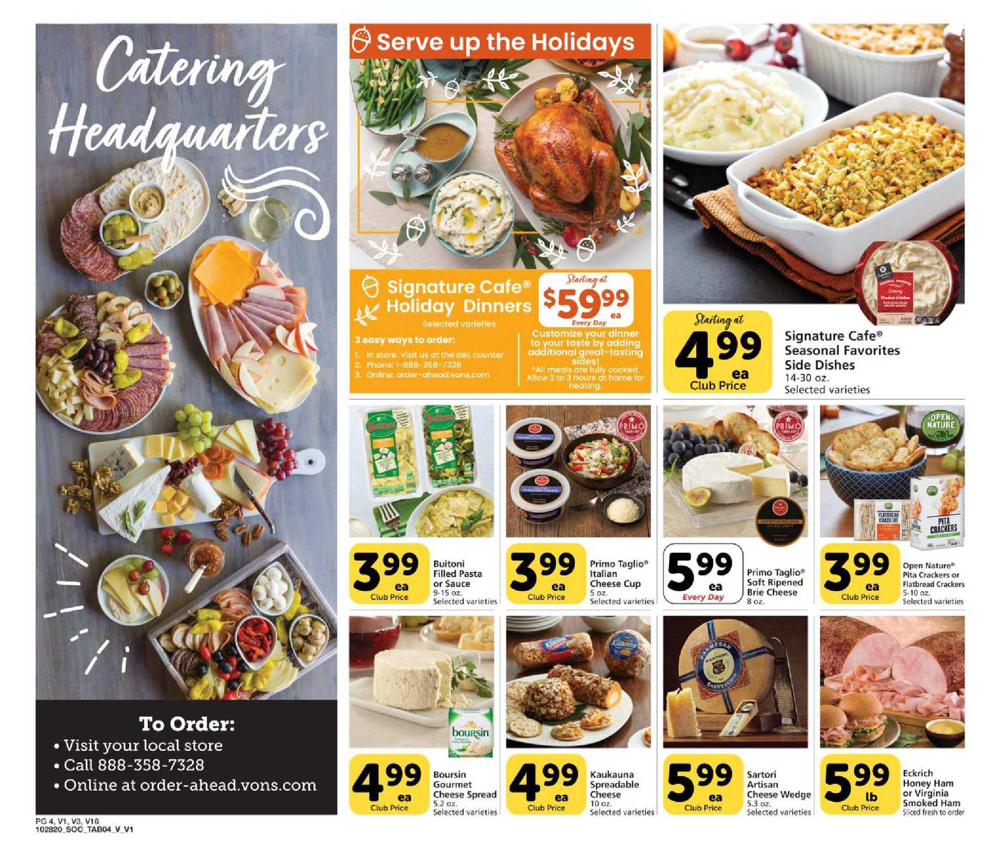 Vons - deals are valid from 11/28/20 to 12/26/20 - page 4.