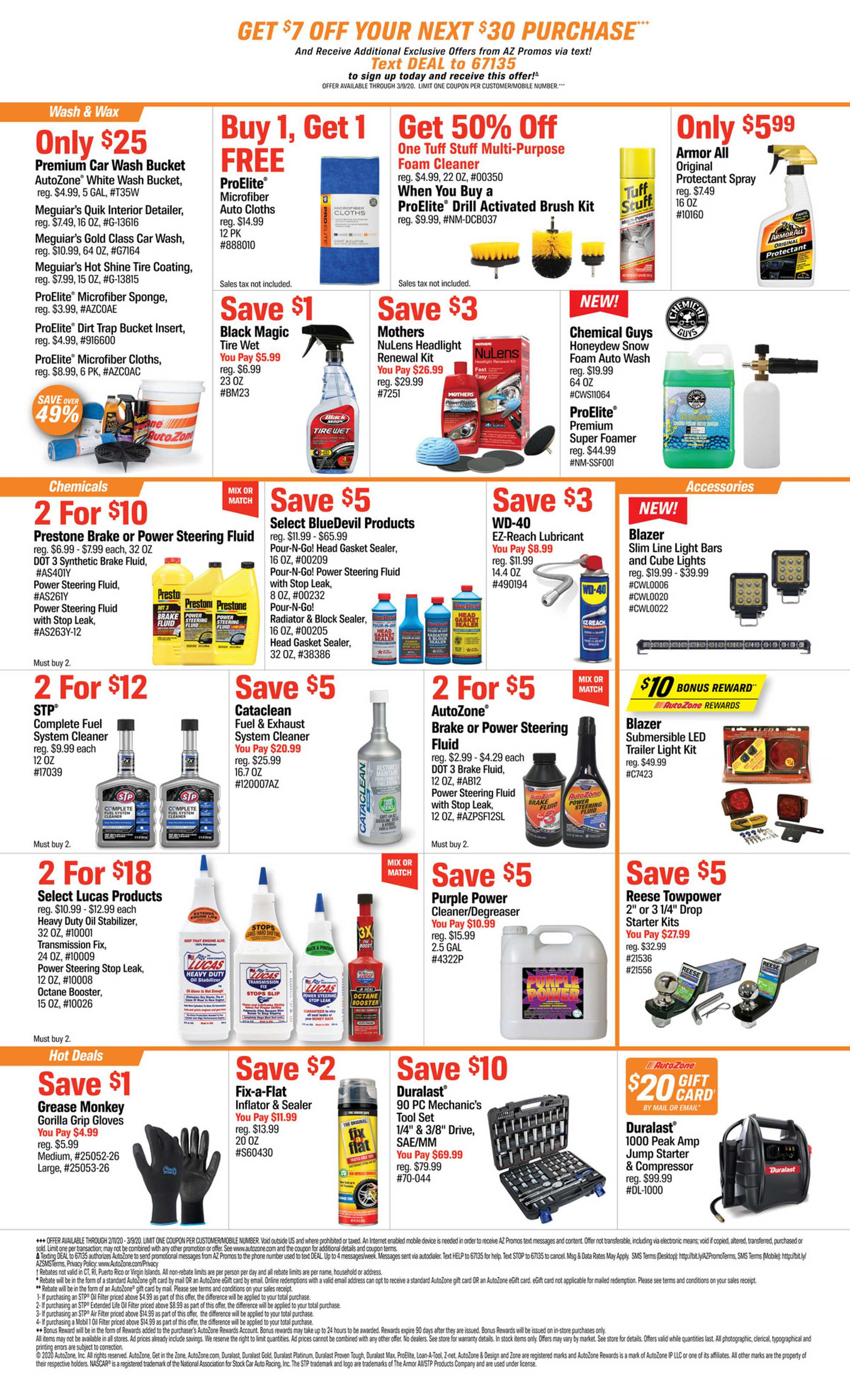 AutoZone - deals are valid from 02/11/20 to 03/09/20 - page 2.
