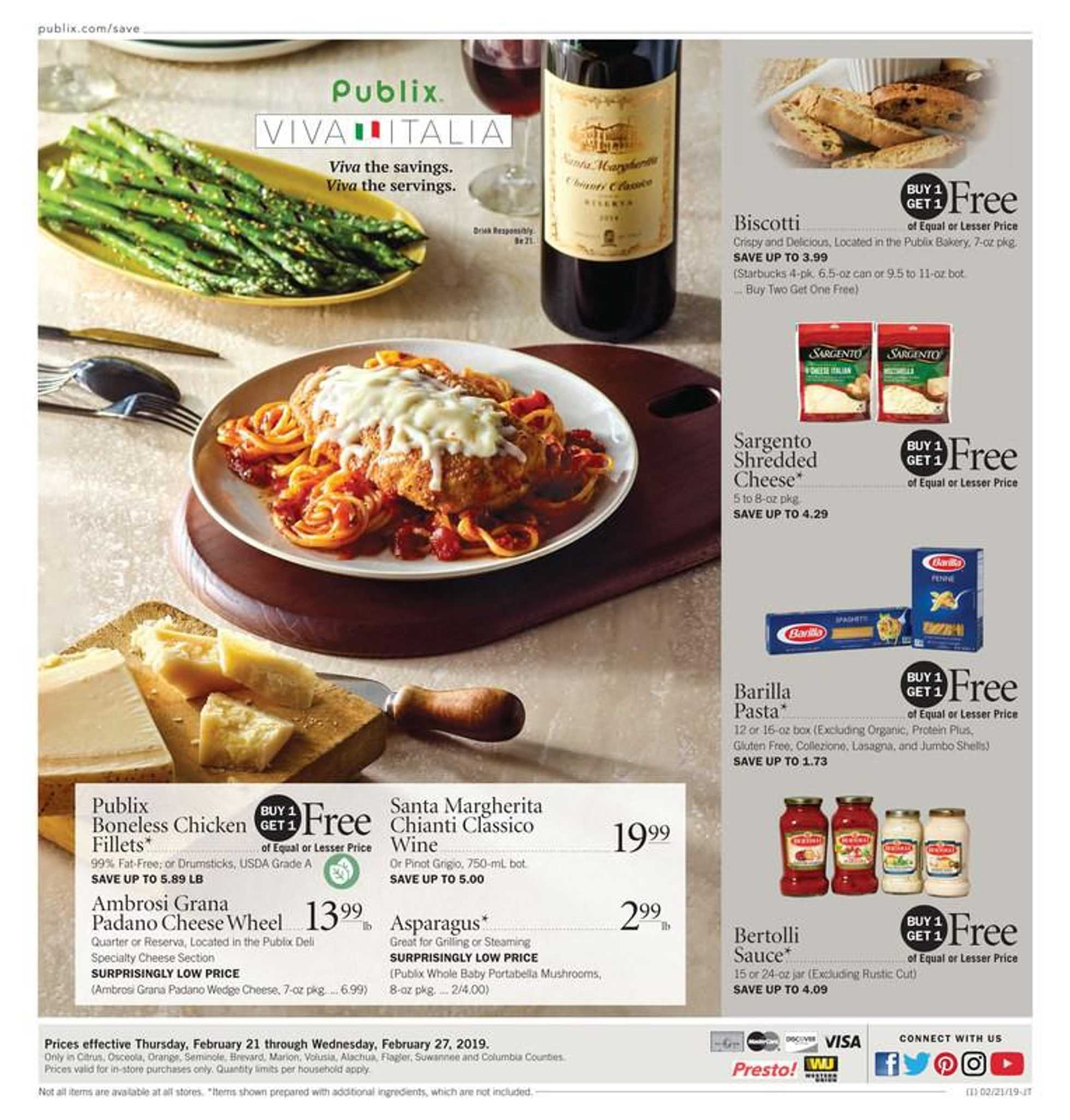 Publix - deals are valid from 02/21/19 to 02/27/19 - page 1.