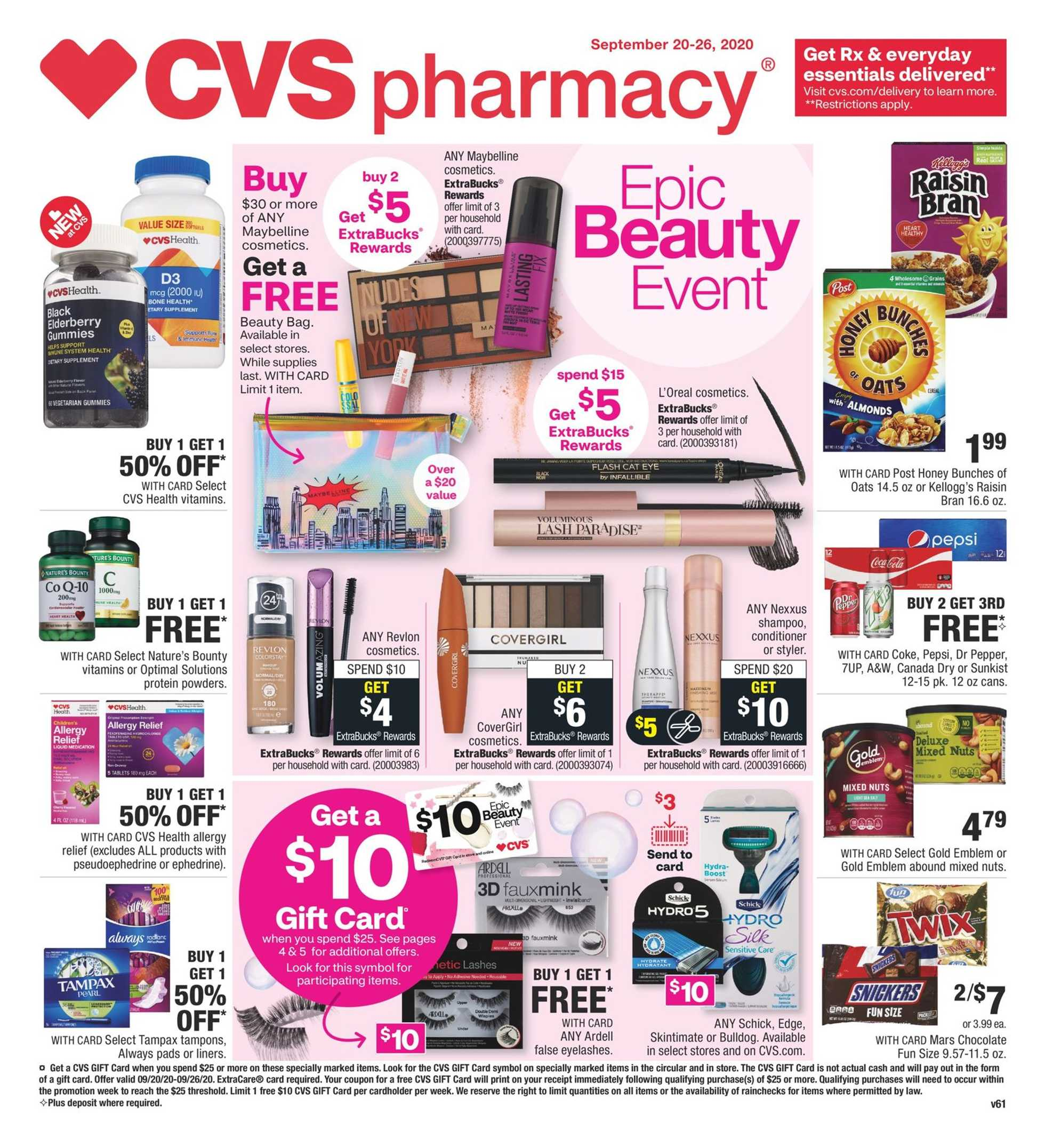 CVS - deals are valid from 09/20/20 to 09/26/20 - page 1.