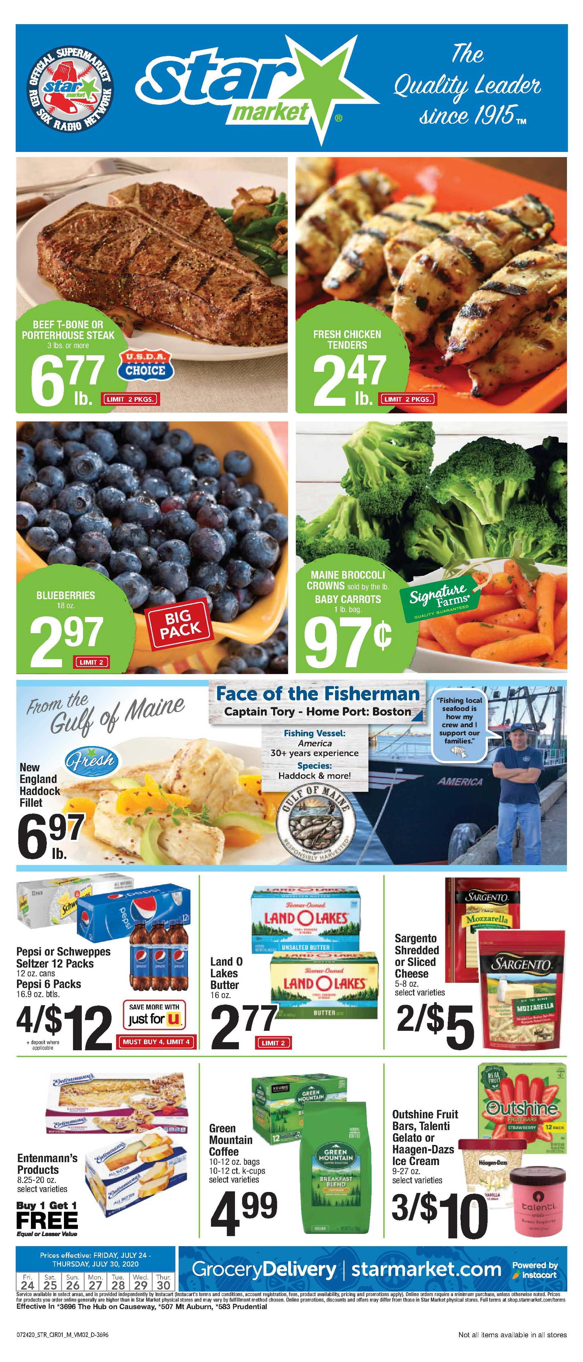 Star Market - deals are valid from 07/24/20 to 07/30/20 - page 1.