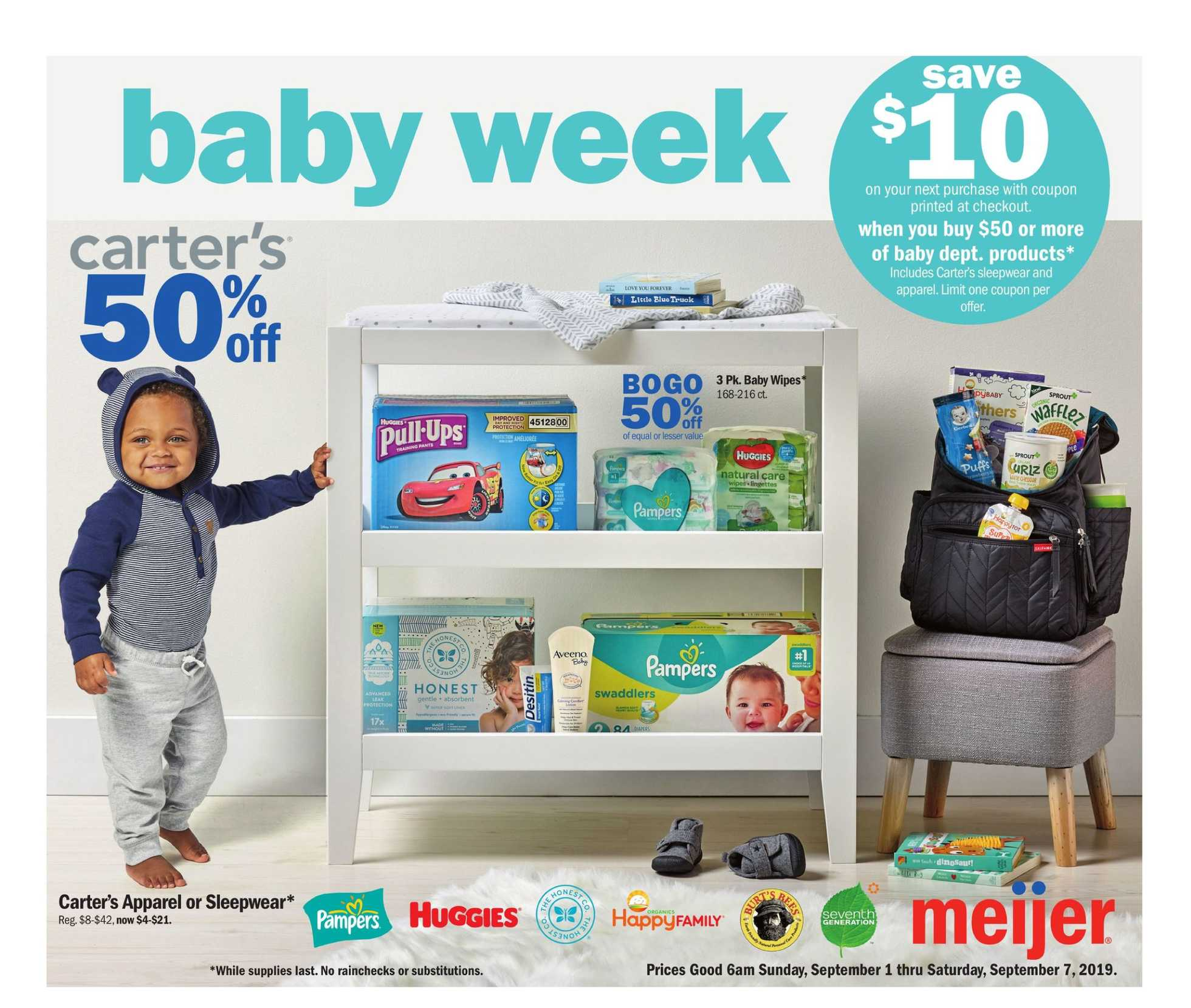 Meijer - deals are valid from 09/01/19 to 09/07/19 - page 1.