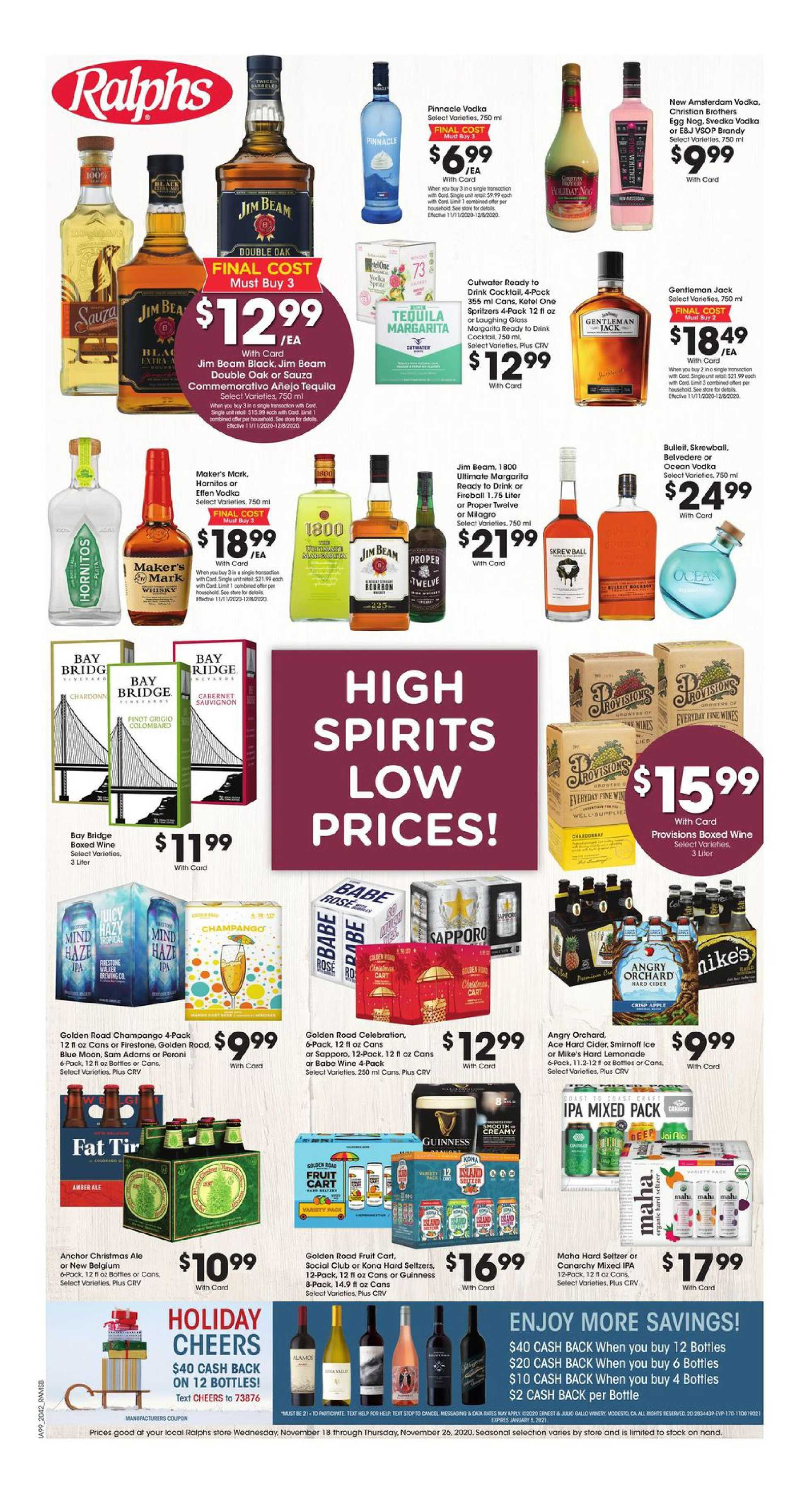 Ralphs - deals are valid from 11/18/20 to 11/26/20 - page 1.
