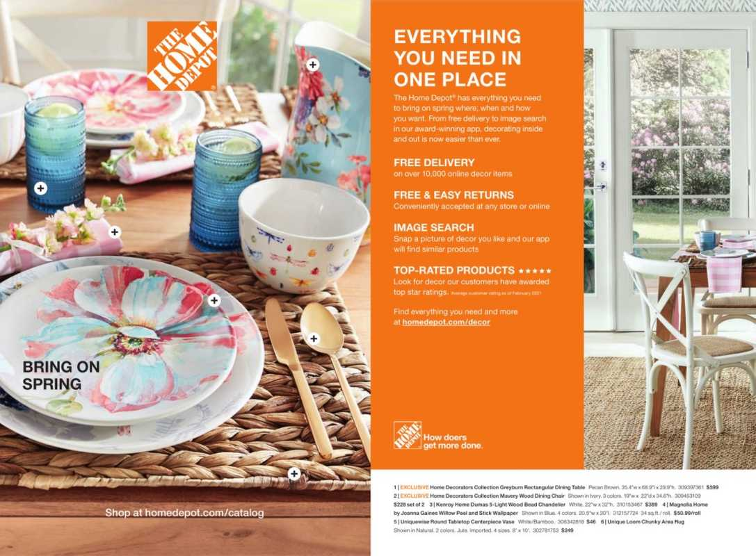 The Home Depot - deals are valid from 03/08/21 to 05/07/21 - page 1.