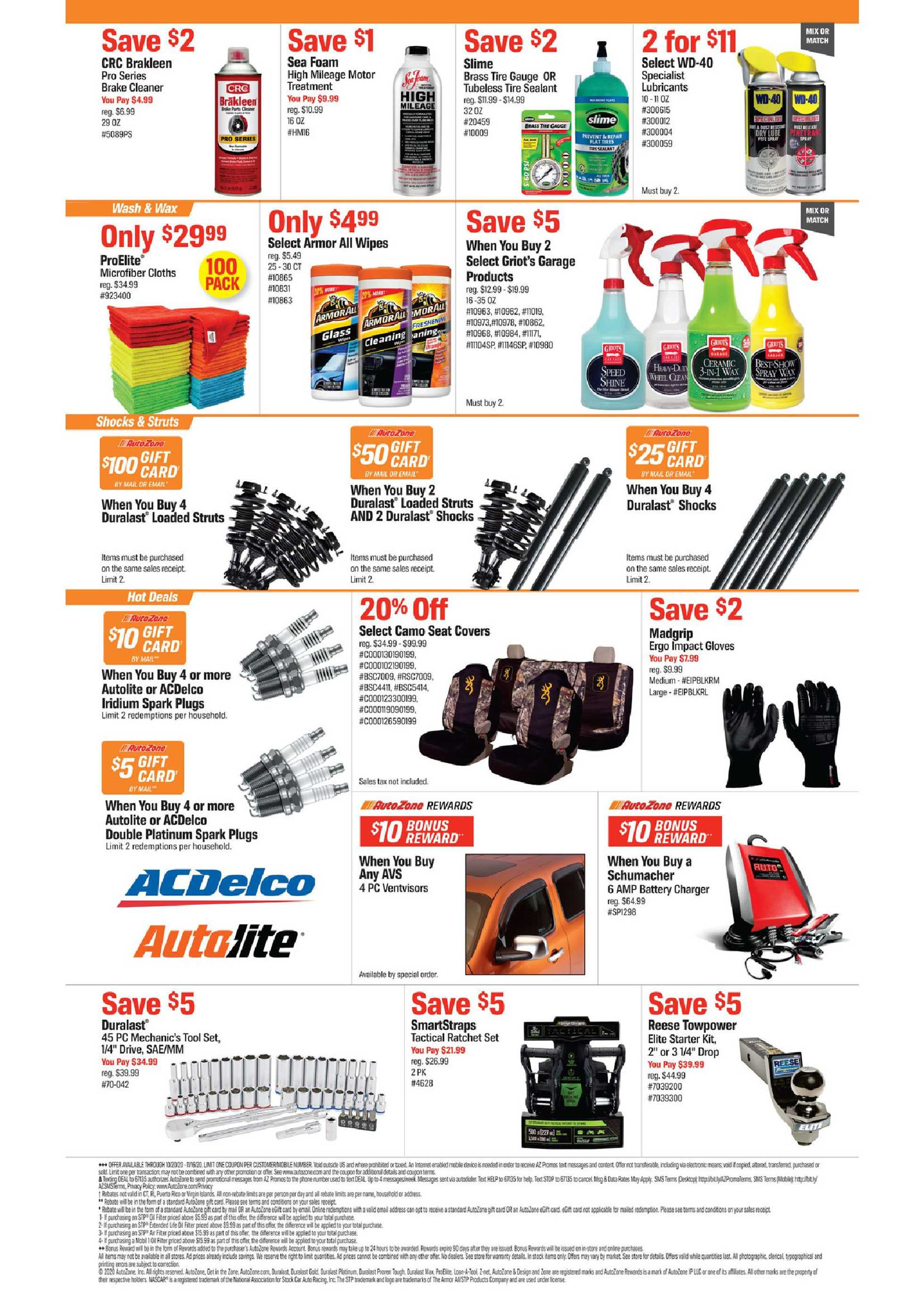 AutoZone - deals are valid from 10/20/20 to 11/16/20 - page 2.