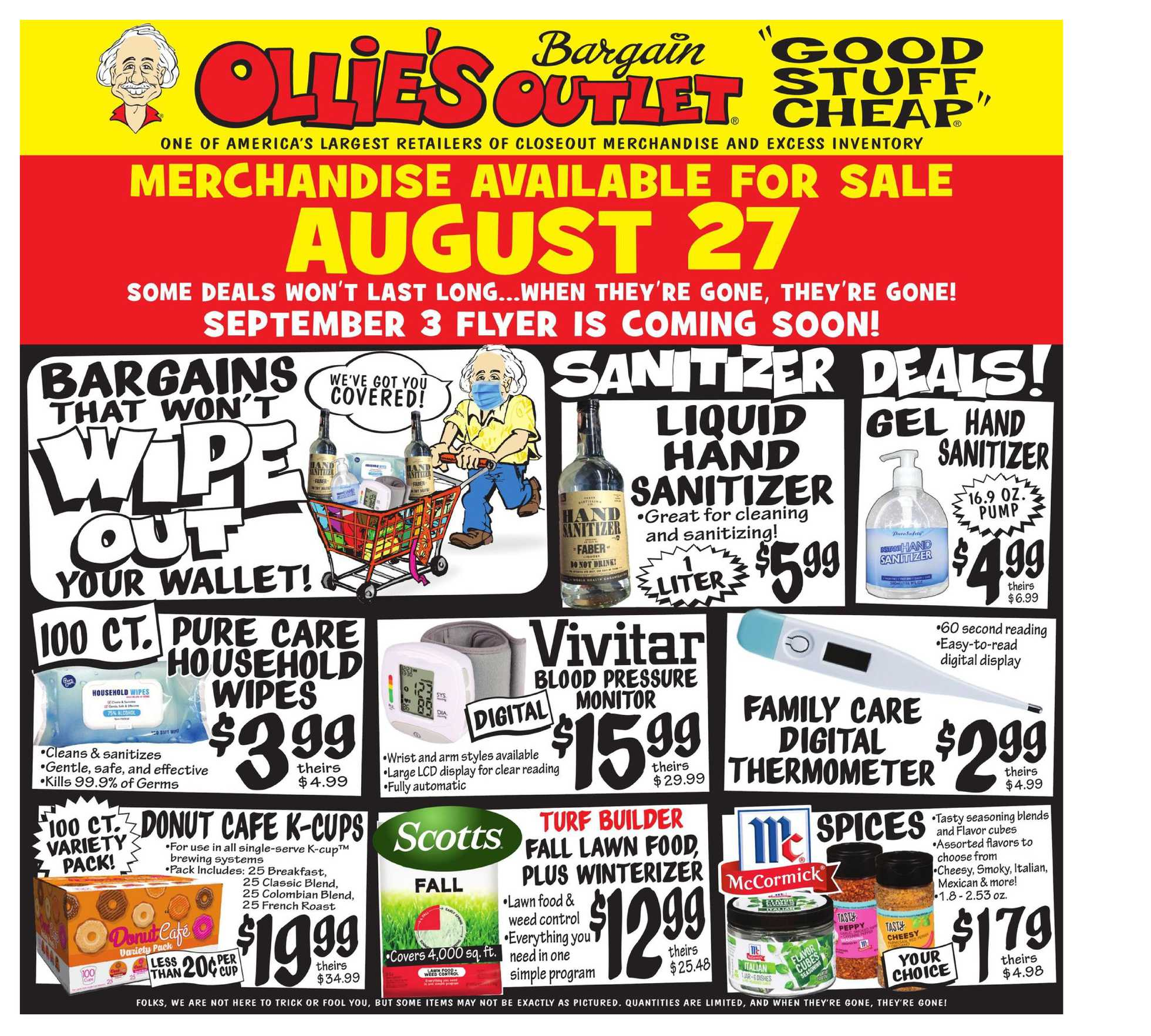 Ollie's Bargain Outlet - deals are valid from 08/27/20 to 09/02/20 - page 1.
