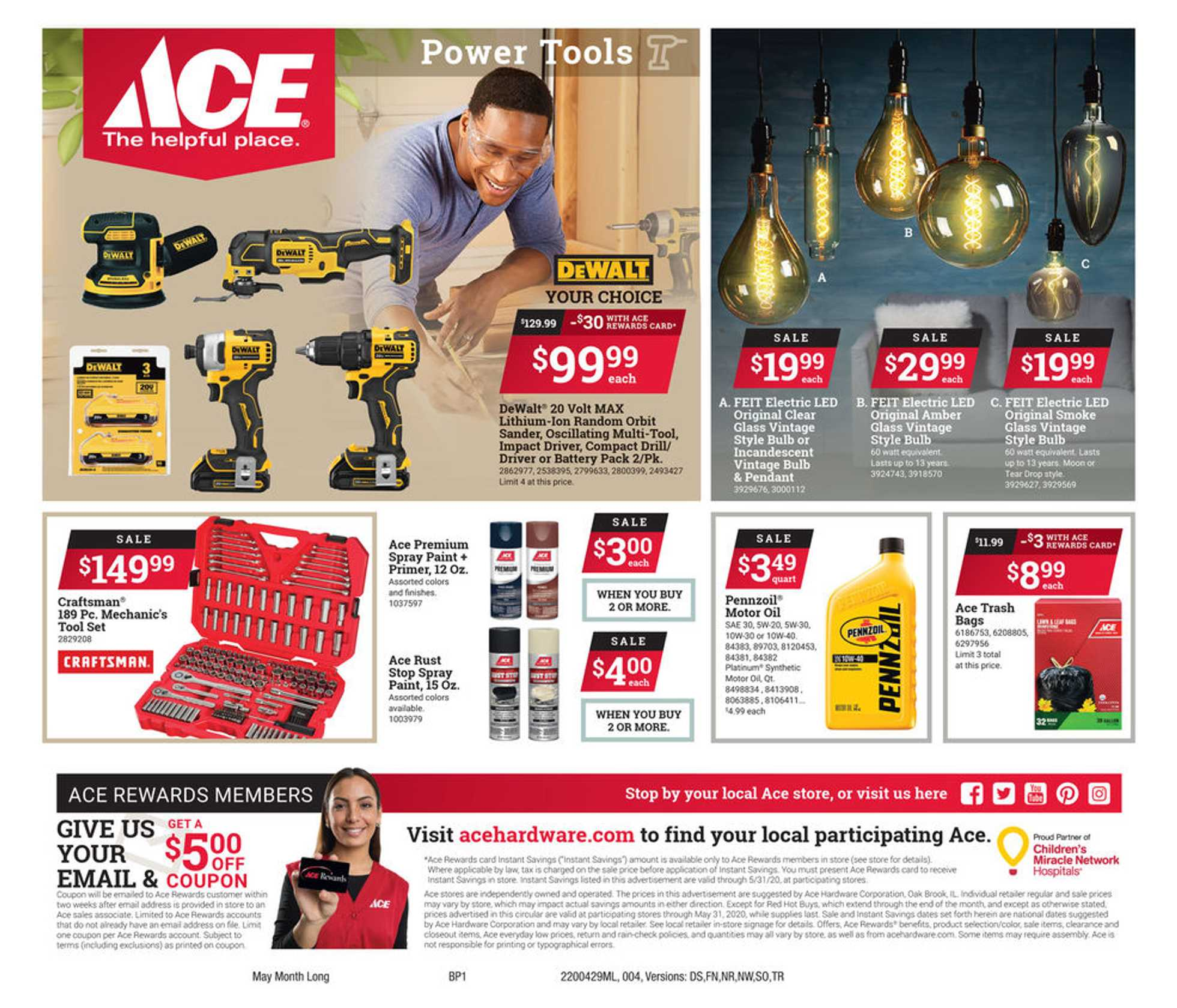 ACE Hardware - deals are valid from 04/29/20 to 05/31/20 - page 4.