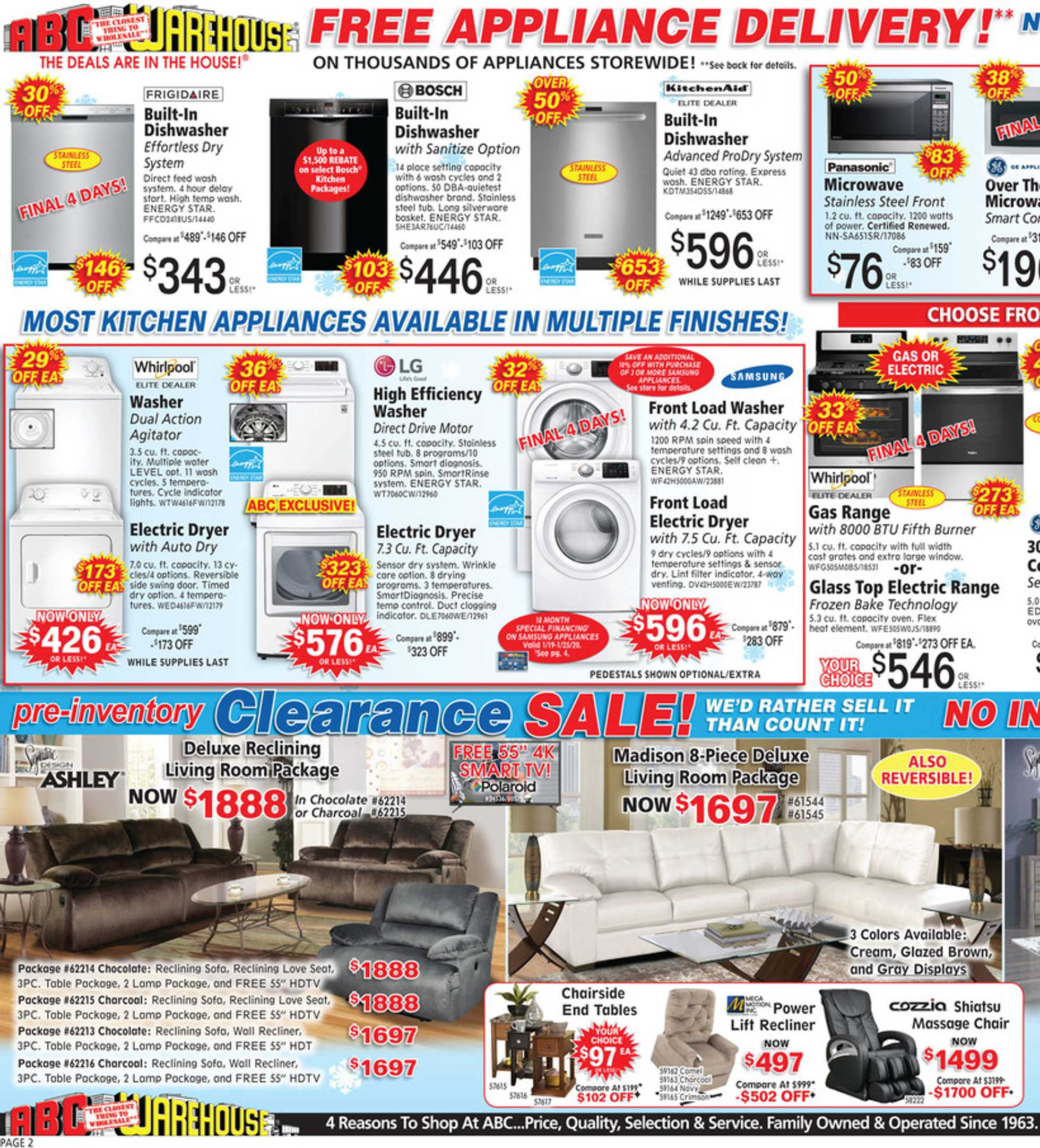 ABC Warehouse - deals are valid from 01/19/20 to 01/25/20 - page 2.