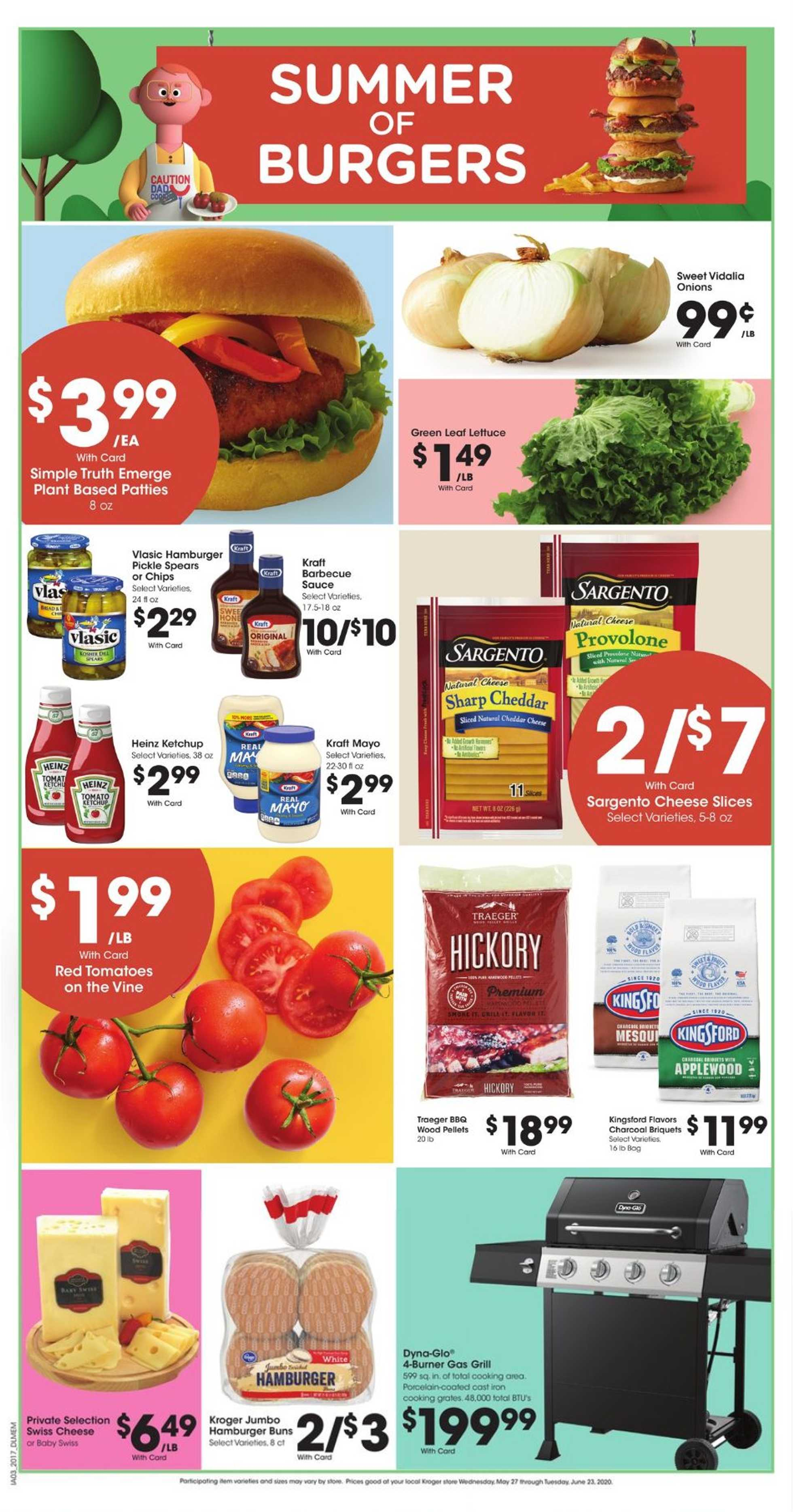 Kroger - deals are valid from 05/26/20 to 06/02/20 - page 1.
