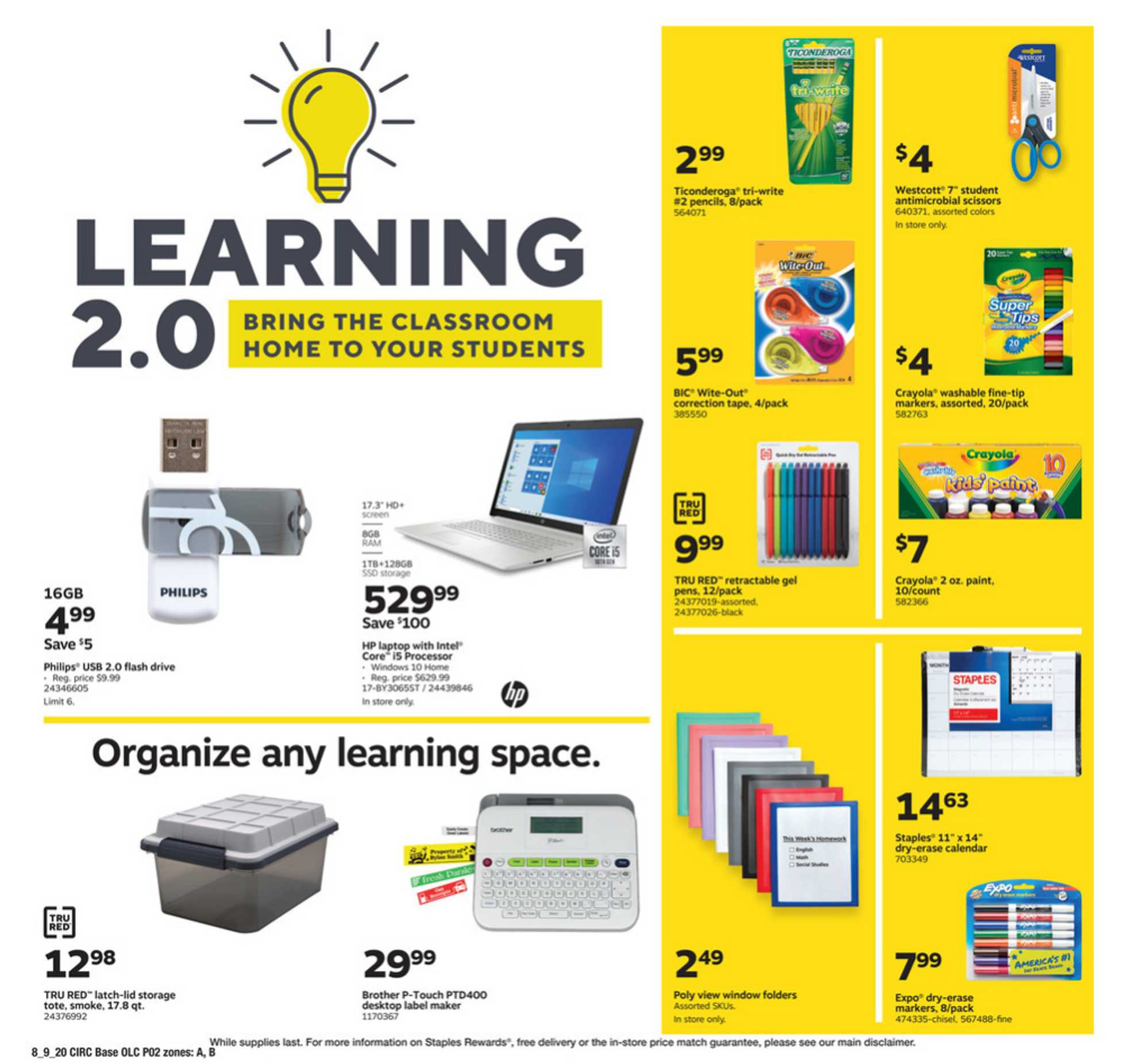 Staples - deals are valid from 08/09/20 to 08/15/20 - page 2.